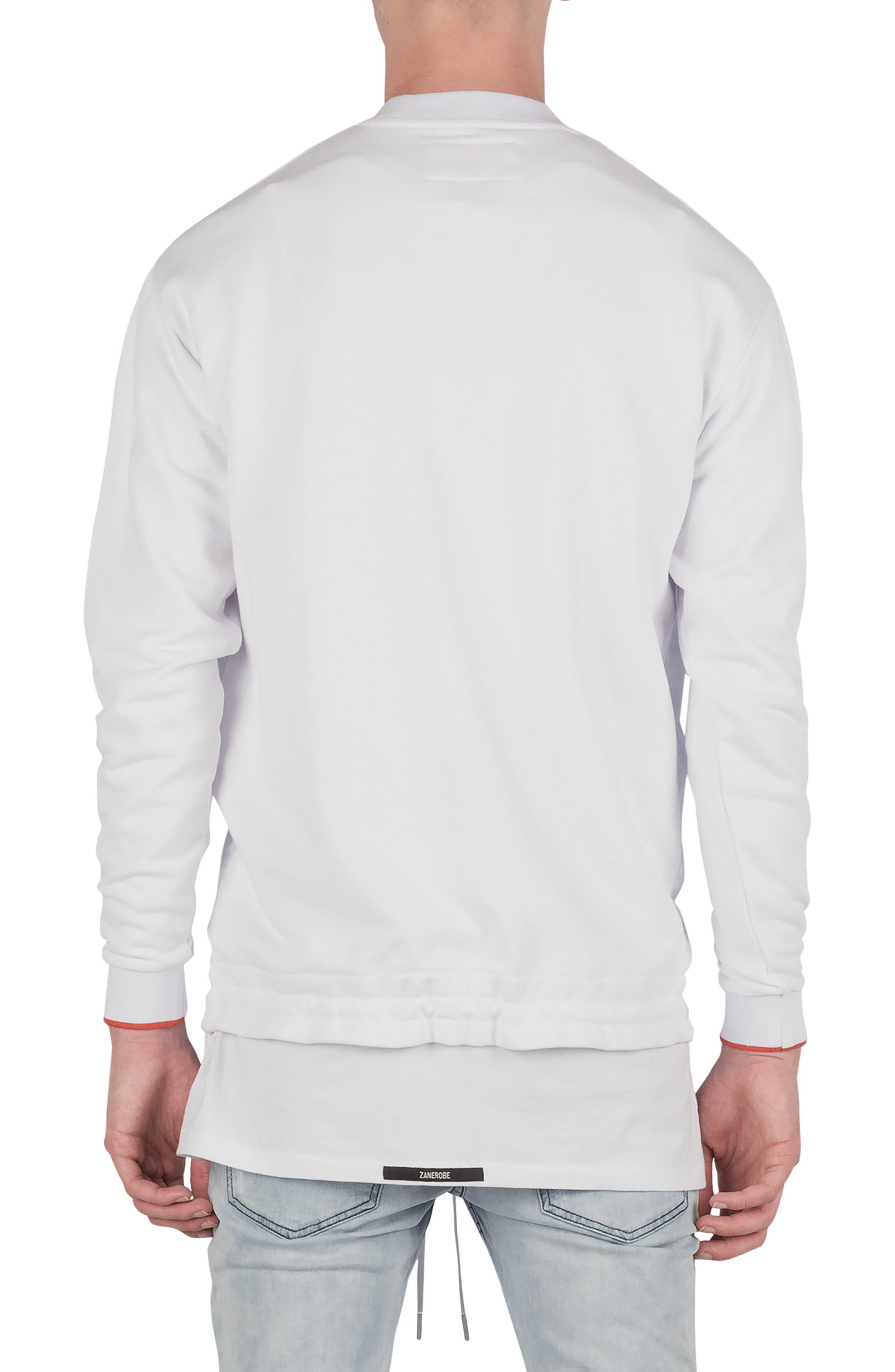 League Boxy Sweatshirt,                             Alternate thumbnail 2, color,                             WHITE