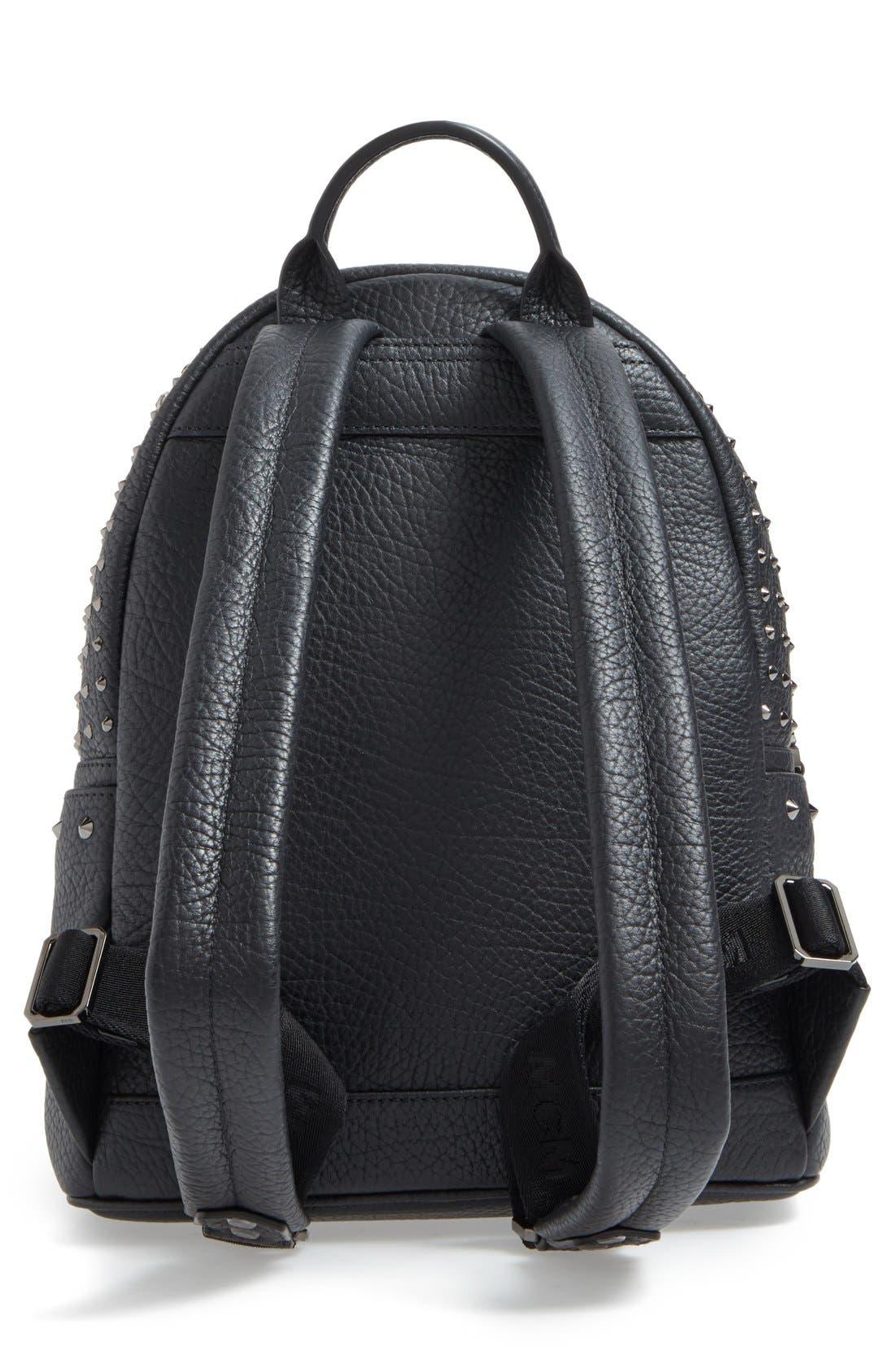 'Small Stark Special' Swarovski Crystal Embellished Leather Backpack,                             Alternate thumbnail 3, color,                             001