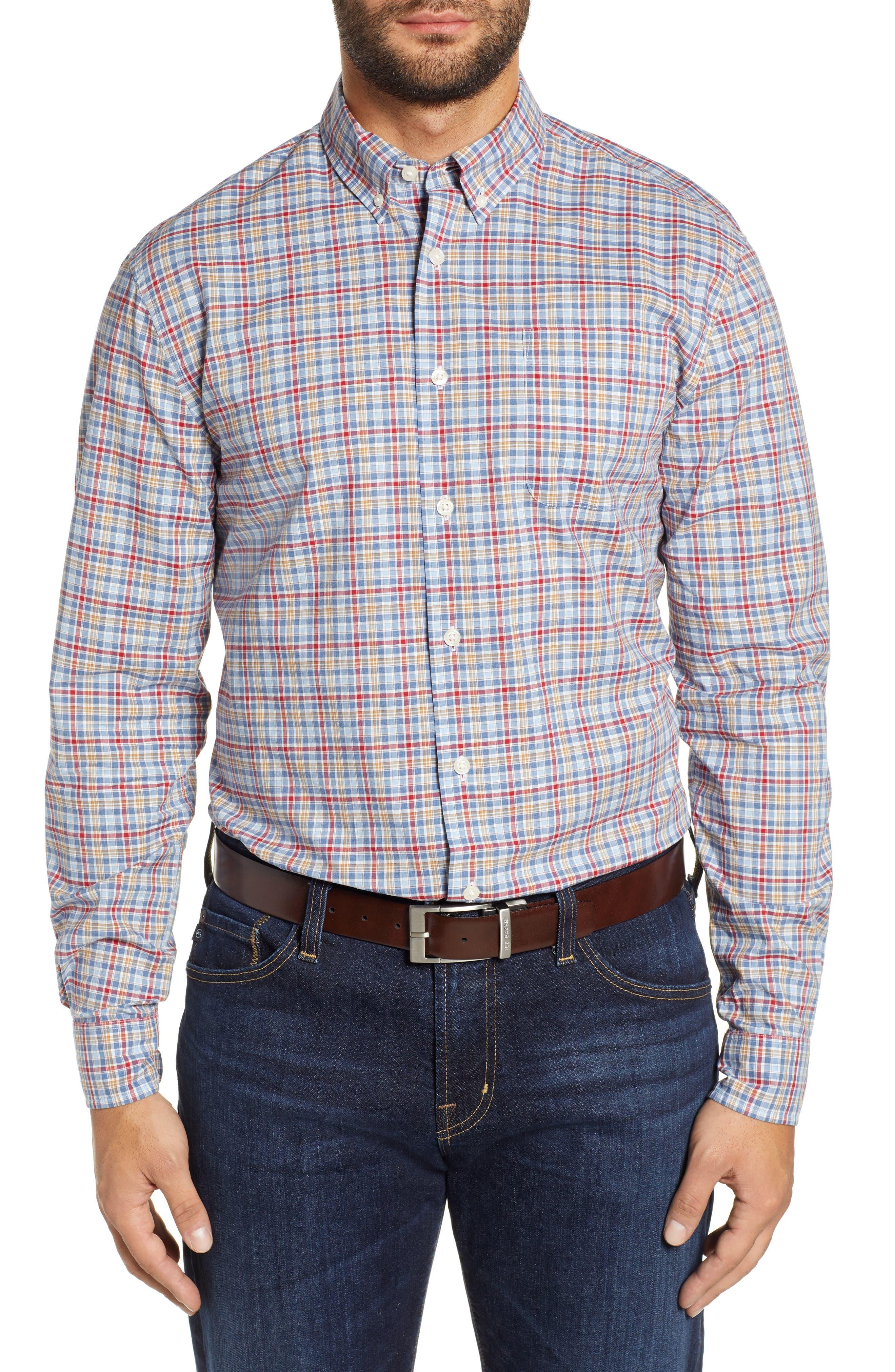 Ellis Classic Fit Sport Shirt,                         Main,                         color, MARINER