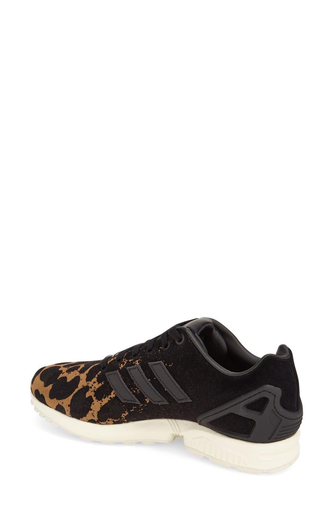 'ZX Flux' Sneaker,                             Alternate thumbnail 2, color,                             001