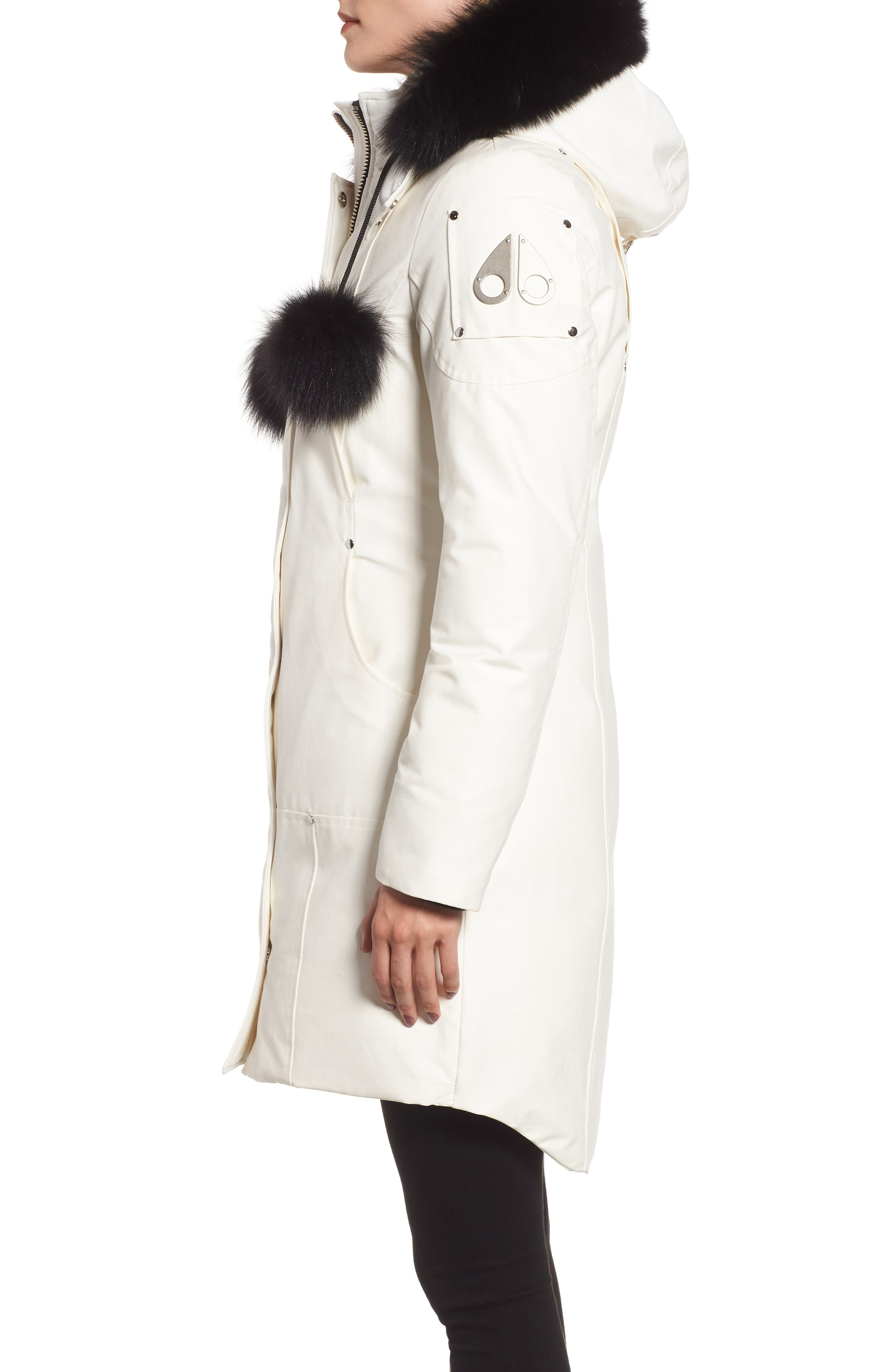 MOOSE KNUCKLES,                             'Stirling' Down Parka with Genuine Fox Fur Trim,                             Alternate thumbnail 3, color,                             100