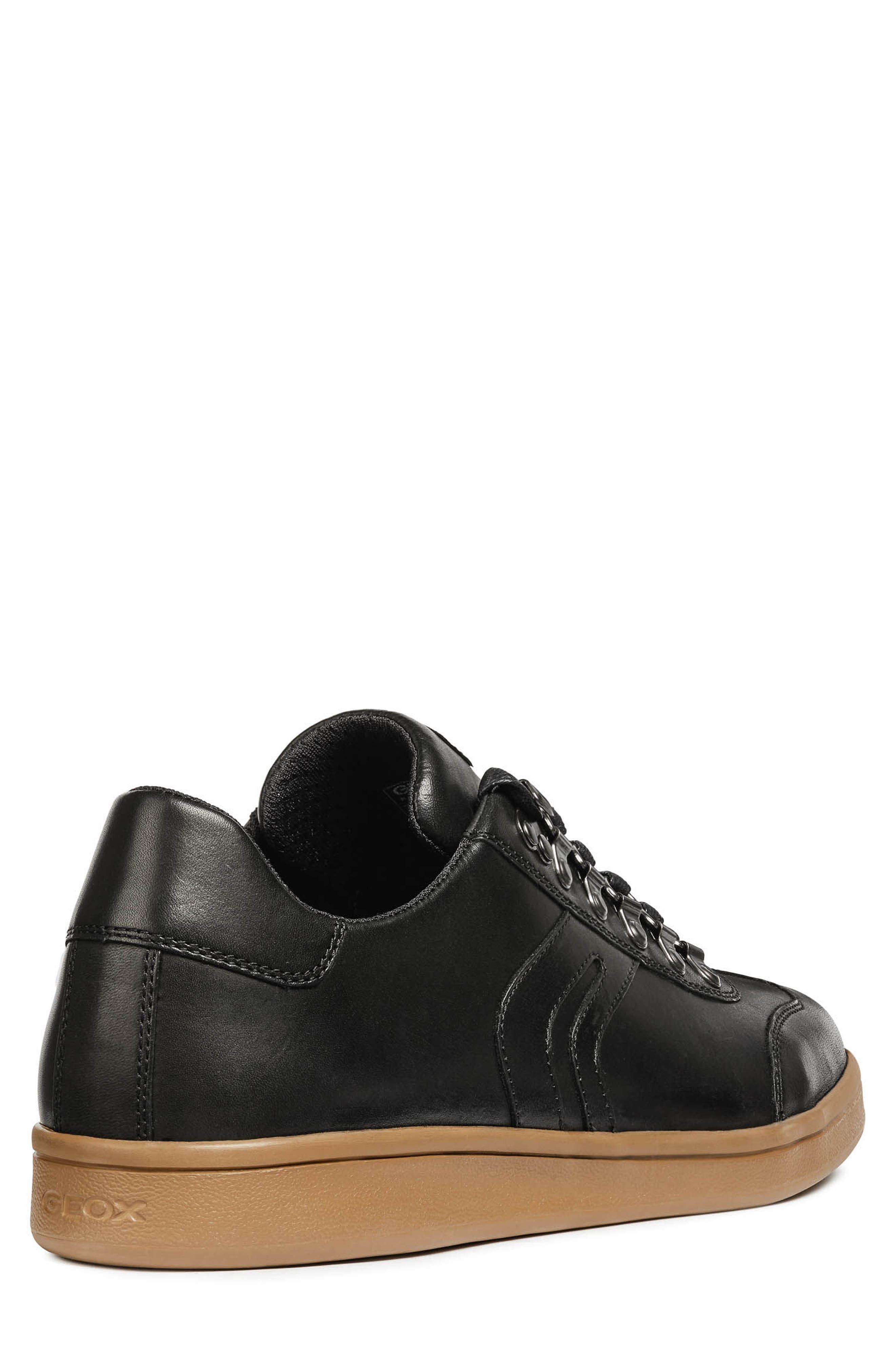 Warrens 12 Low Top Sneaker,                             Alternate thumbnail 2, color,                             BLACK LEATHER