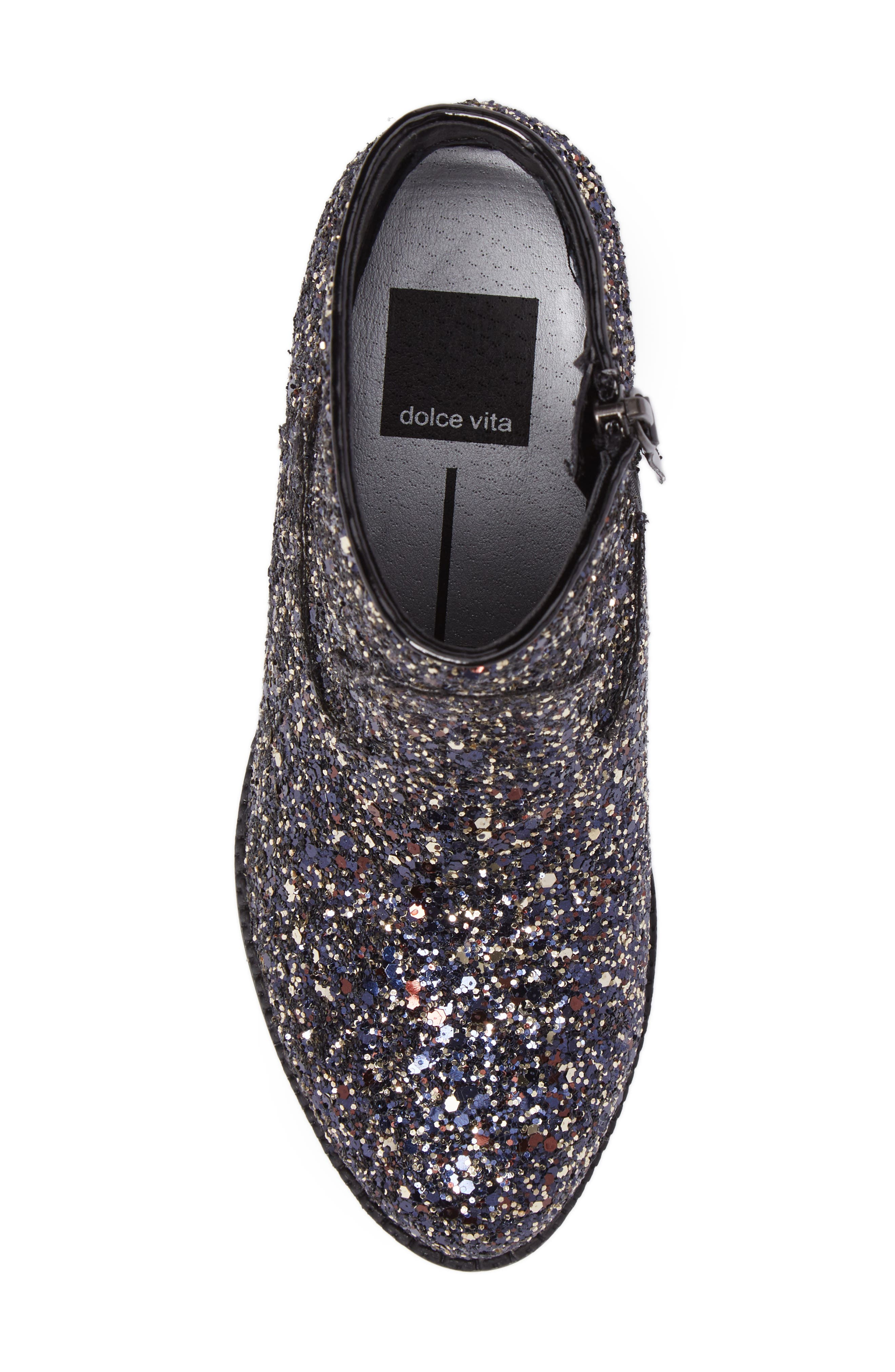 Jaclyn Glitter Bootie,                             Alternate thumbnail 5, color,                             002