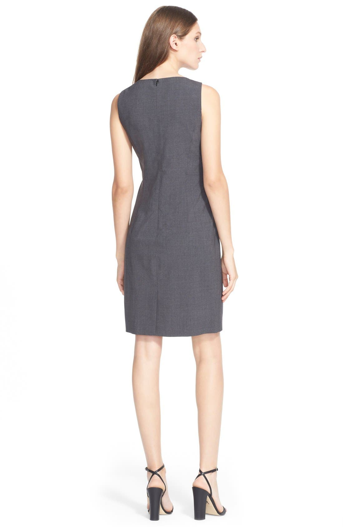 'Betty.2B' Stretch Wool Sheath Dress,                             Alternate thumbnail 3, color,                             020