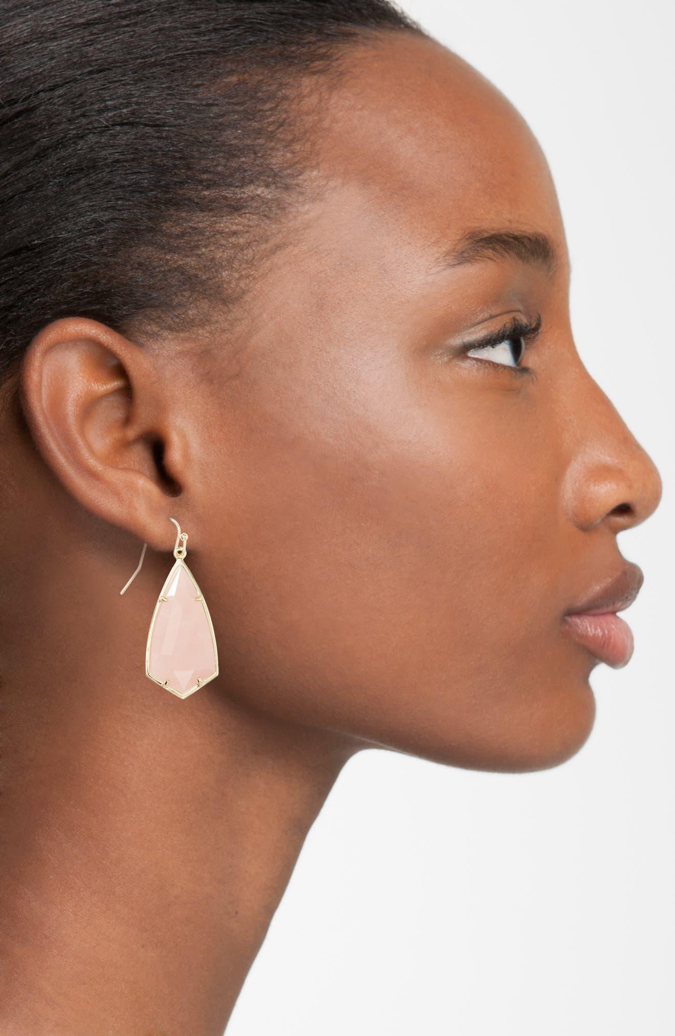 Carla Semiprecious Stone Drop Earrings,                             Alternate thumbnail 19, color,