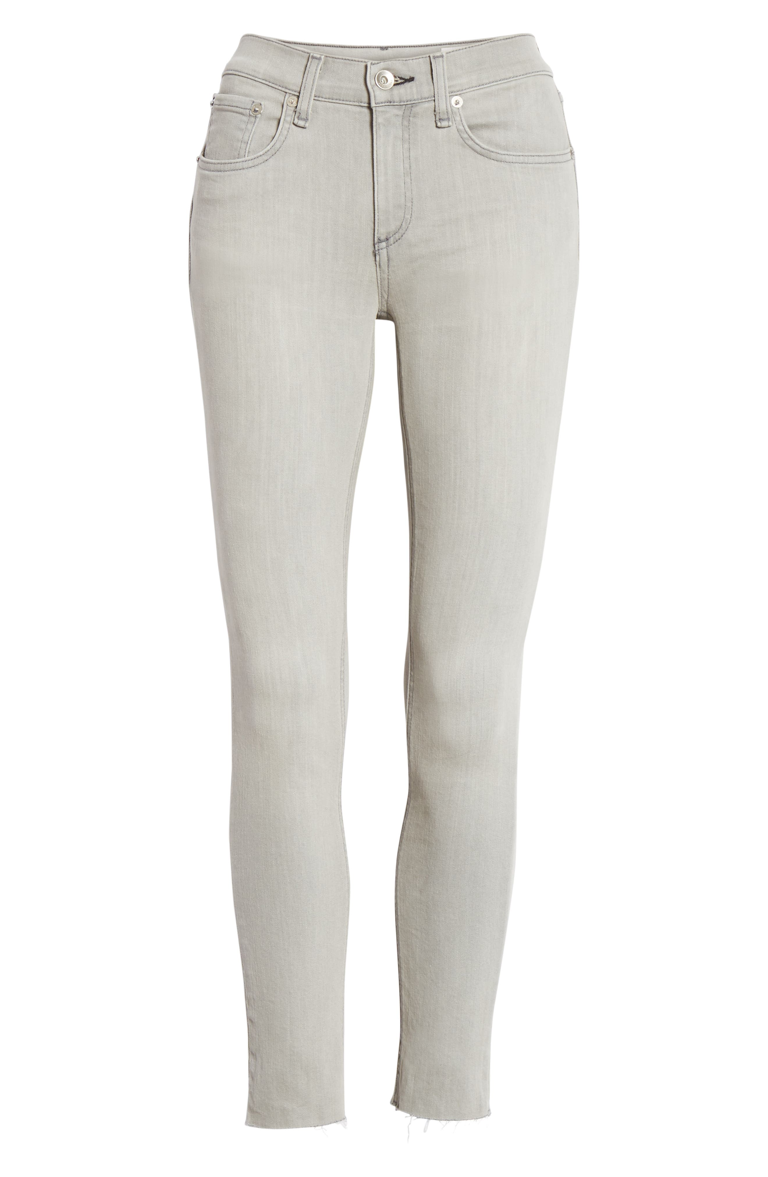 Ankle Skinny Jeans,                             Alternate thumbnail 7, color,                             020