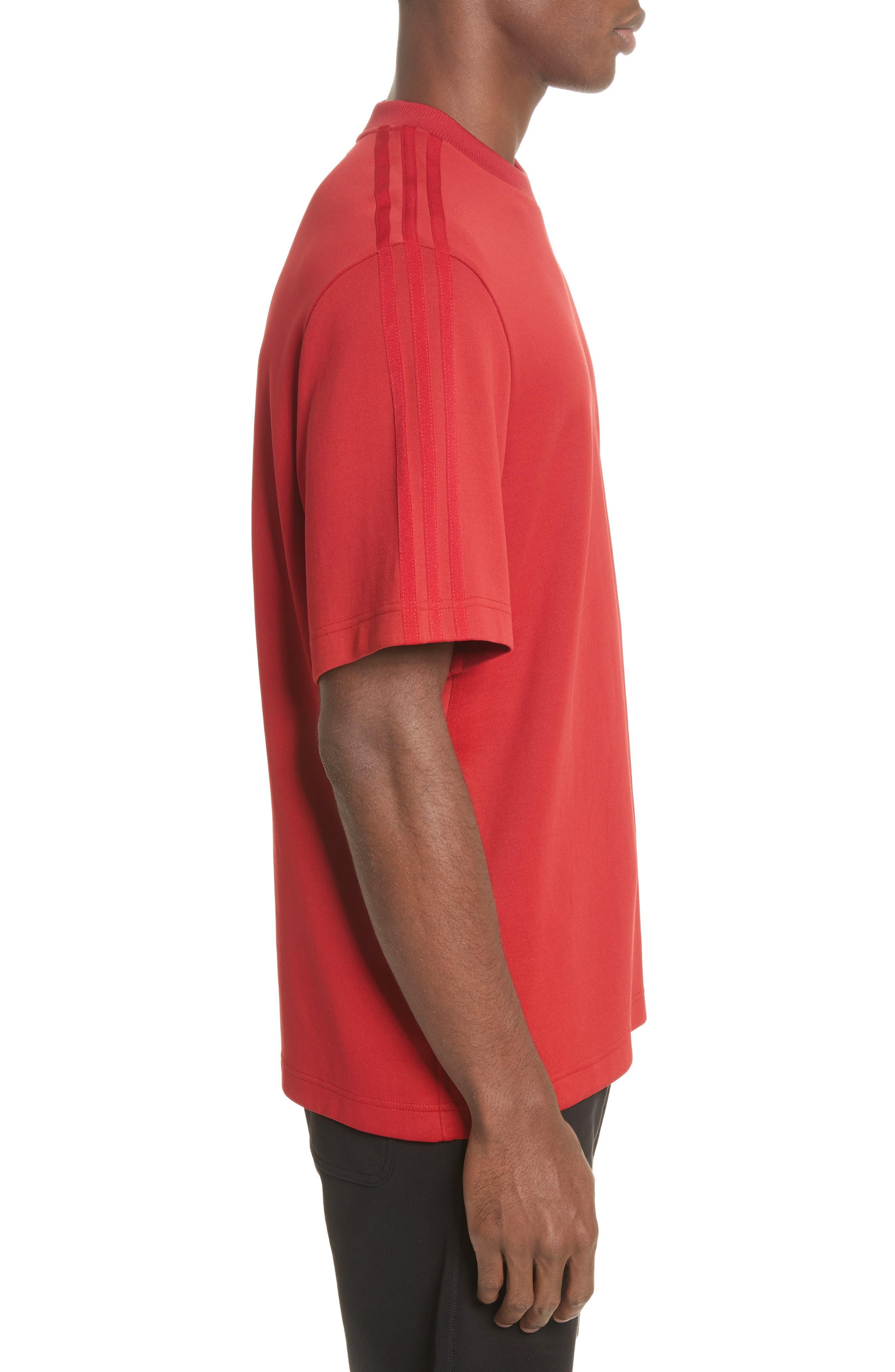 x adidas Stripe Crewneck T-Shirt,                             Alternate thumbnail 3, color,