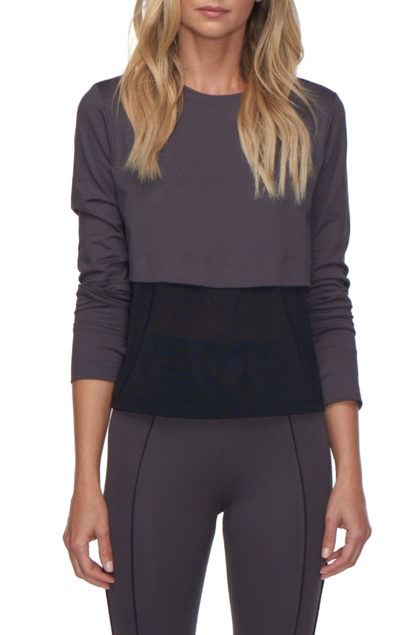 Grid Pullover,                         Main,                         color, 001