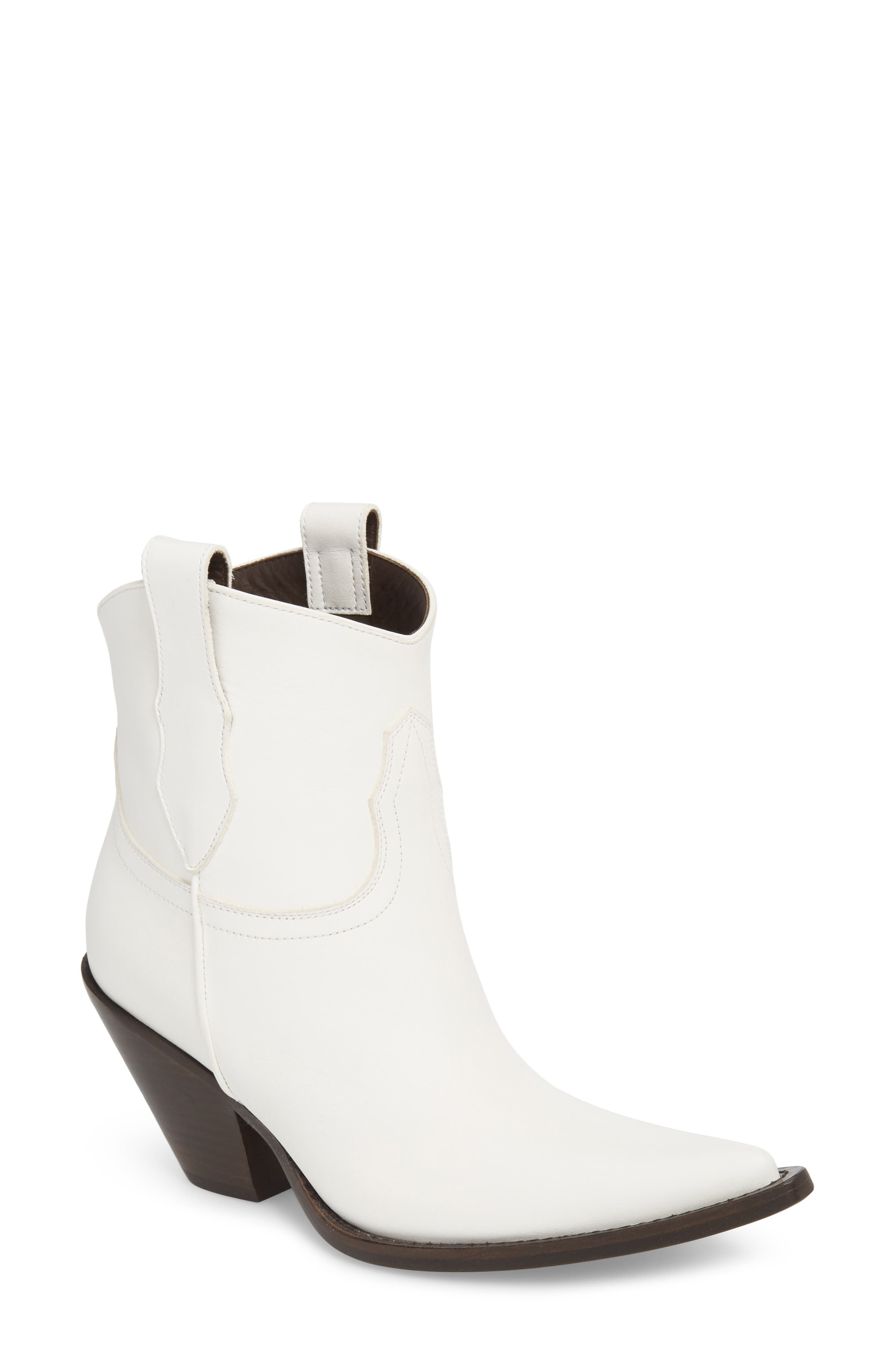 Low Mexas Western Bootie,                             Main thumbnail 1, color,                             WHITE