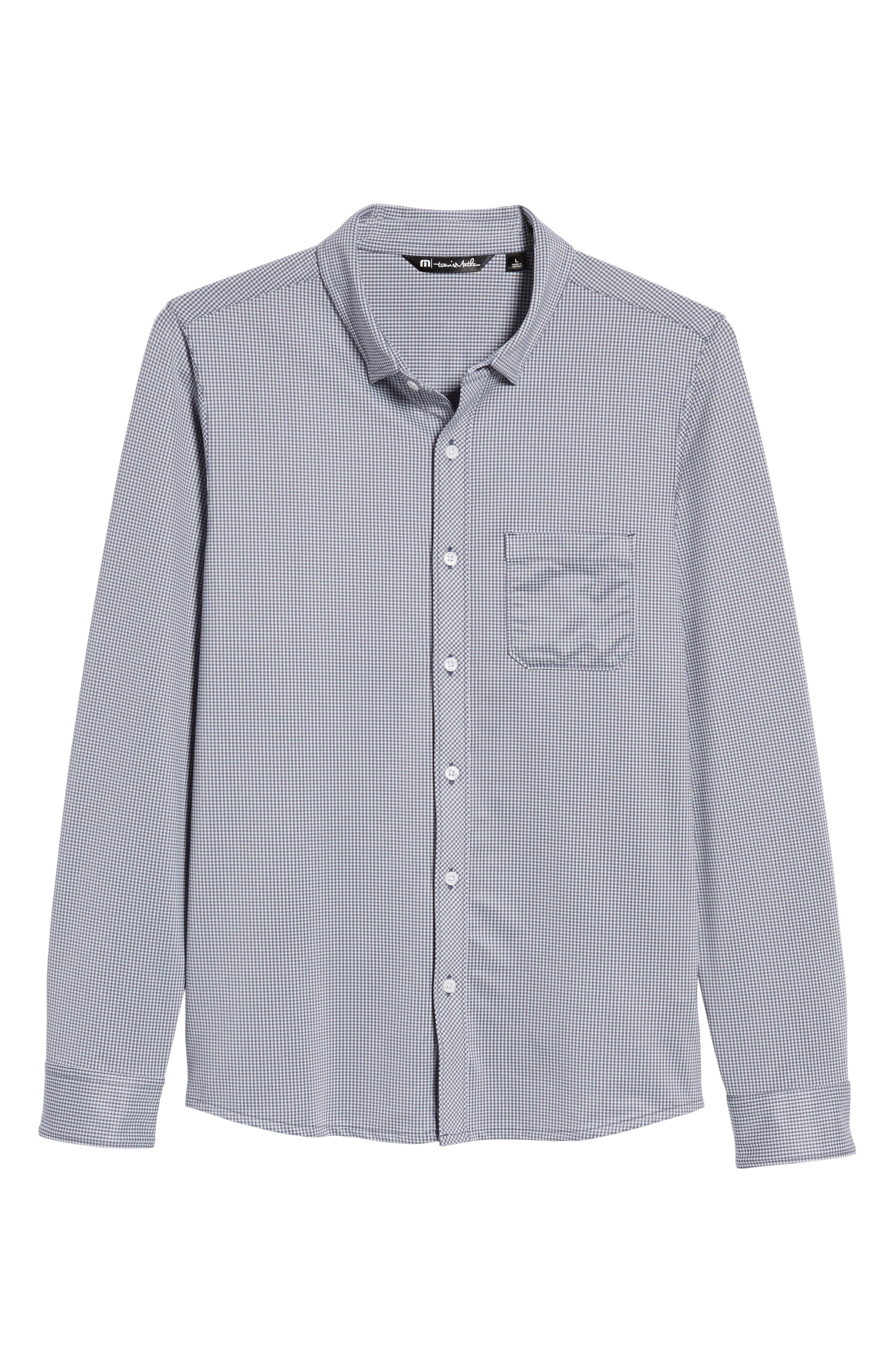 TRAVIS MATHEW,                             Couig Gingham Sport Shirt,                             Alternate thumbnail 6, color,                             105