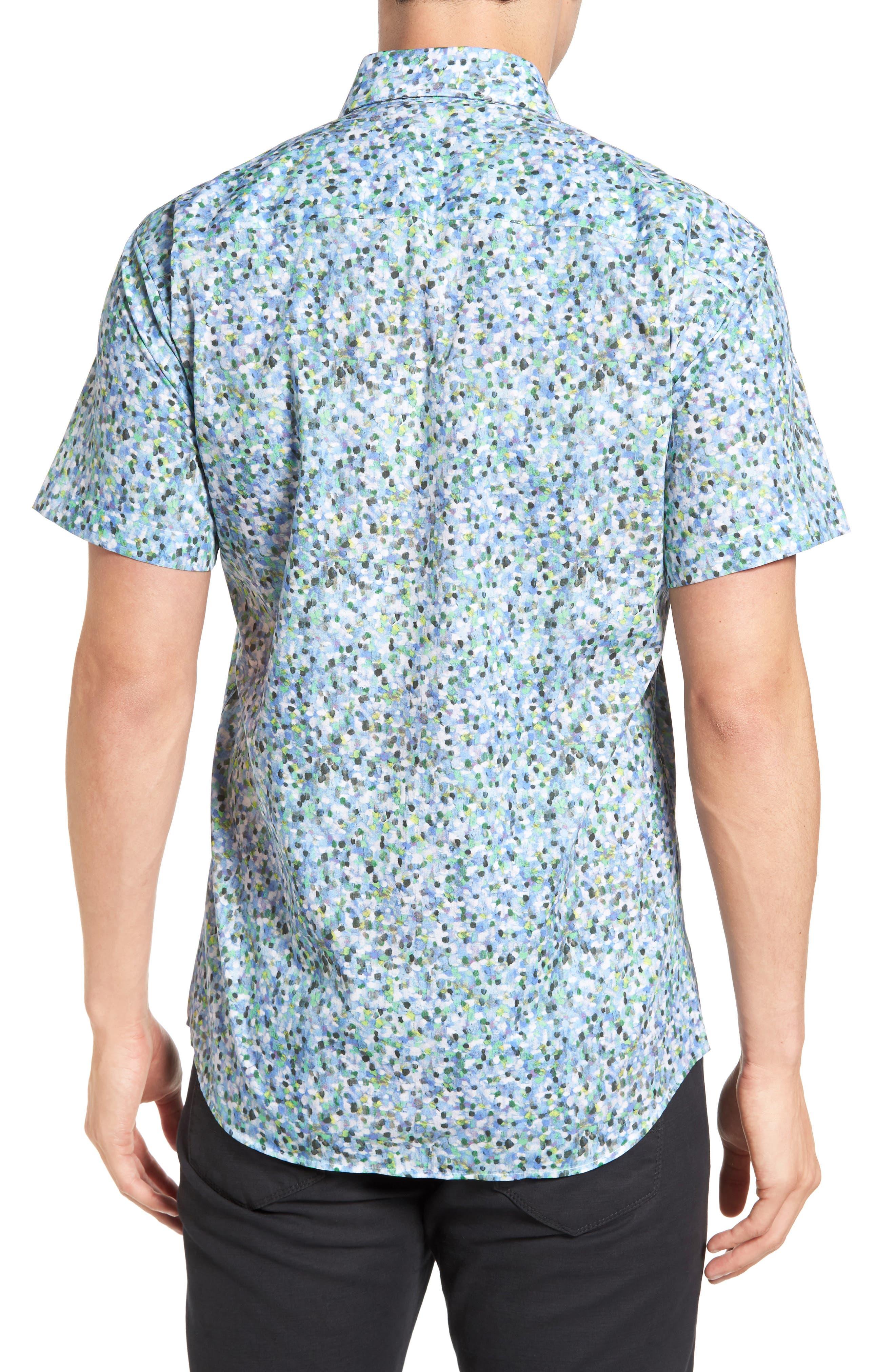 Trim Fit Print Sport Shirt,                             Alternate thumbnail 2, color,                             400