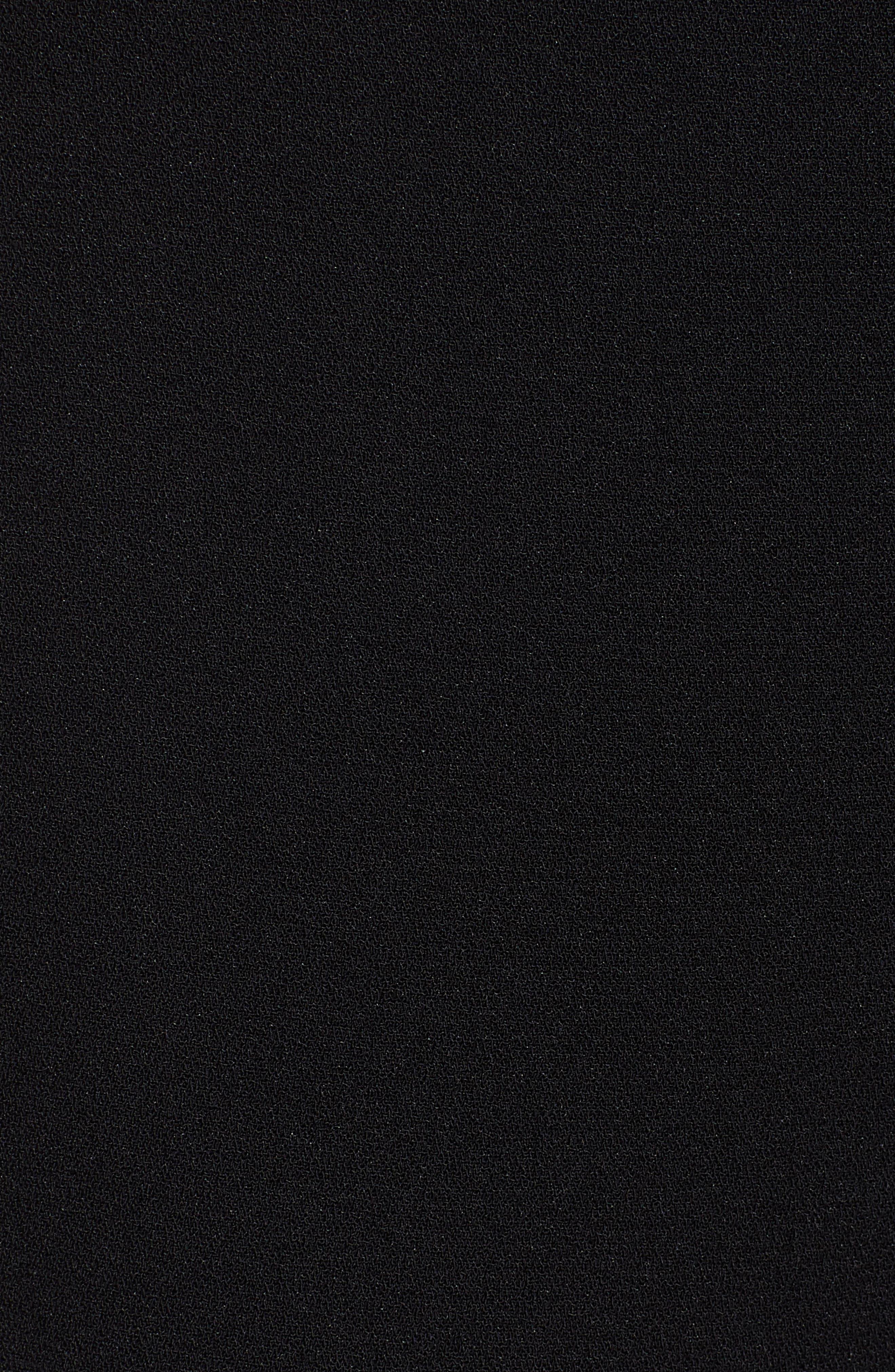Tie Waist Moss Crepe Pants,                             Alternate thumbnail 5, color,                             RICH BLACK