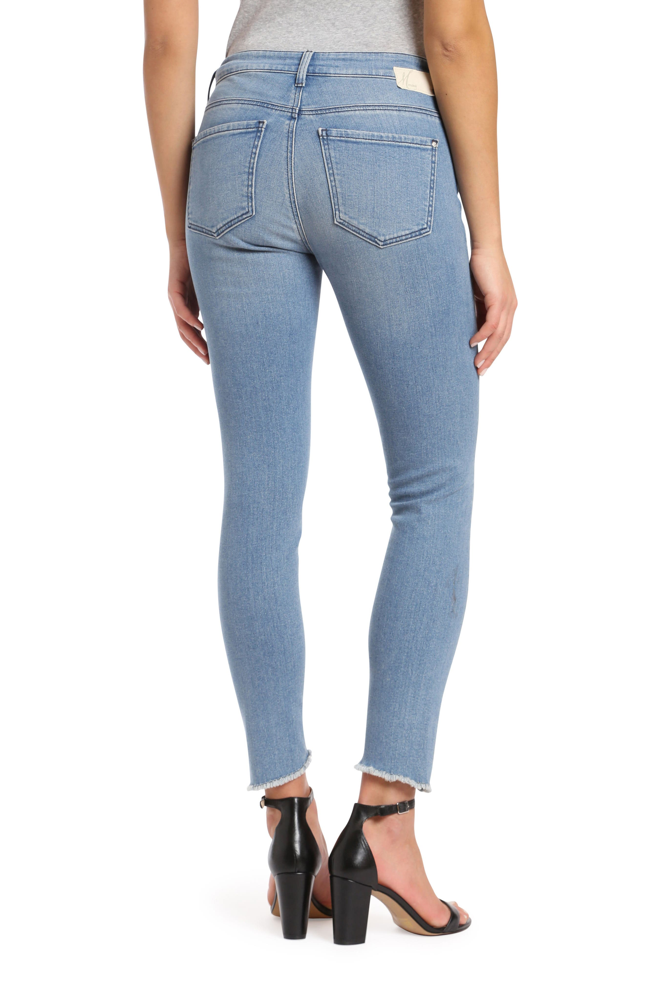 Tess Twisted Step Hem Skinny Jeans,                             Alternate thumbnail 2, color,                             400