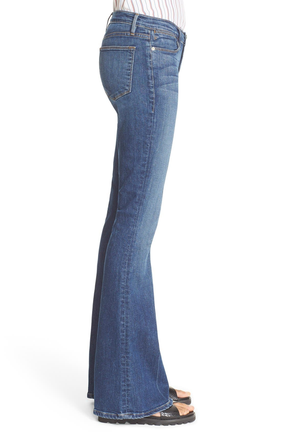 'Le High Flare' Jeans,                             Alternate thumbnail 22, color,