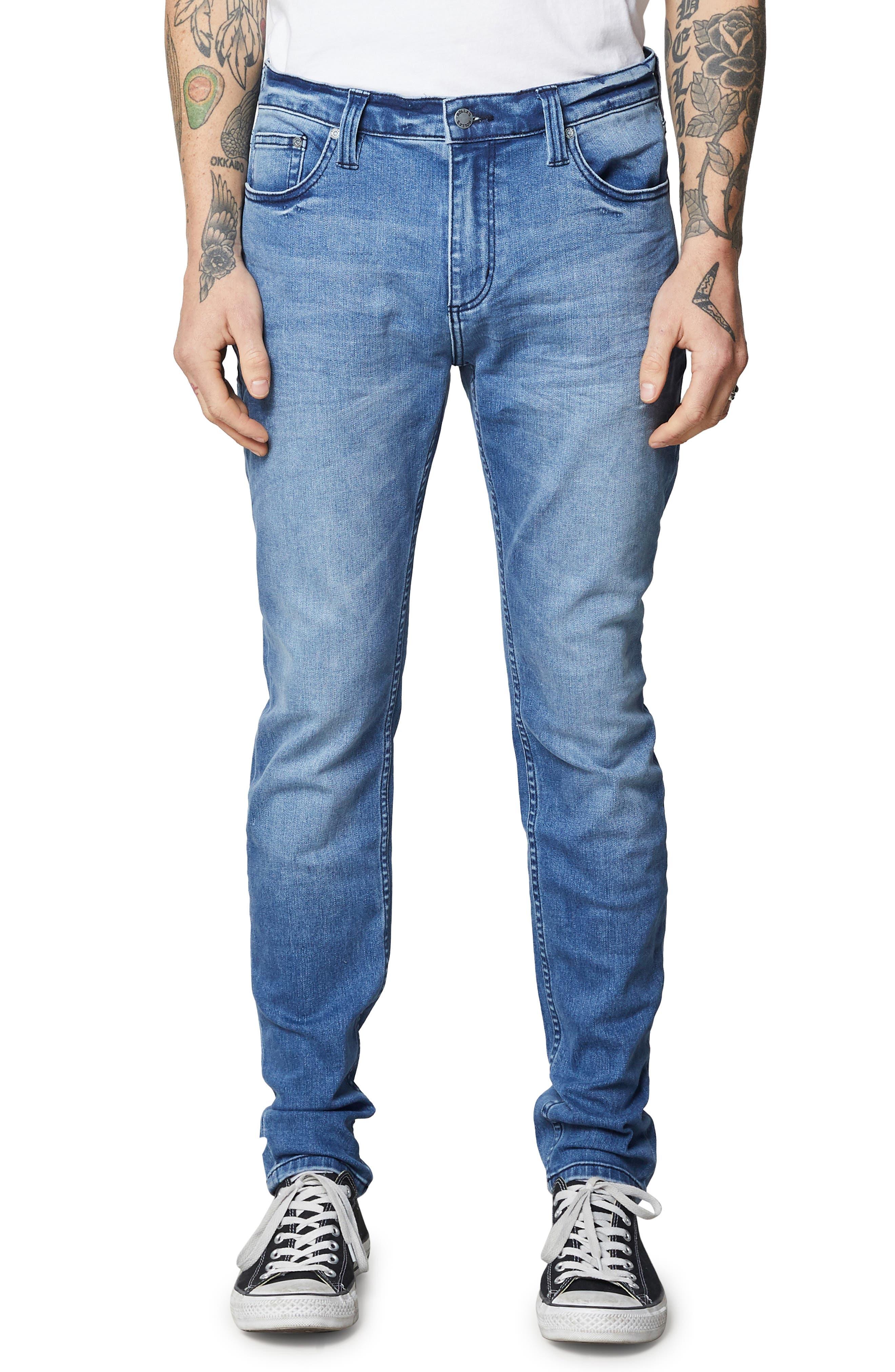 Stinger Skinny Fit Jeans,                             Main thumbnail 1, color,                             TRUE BLUE