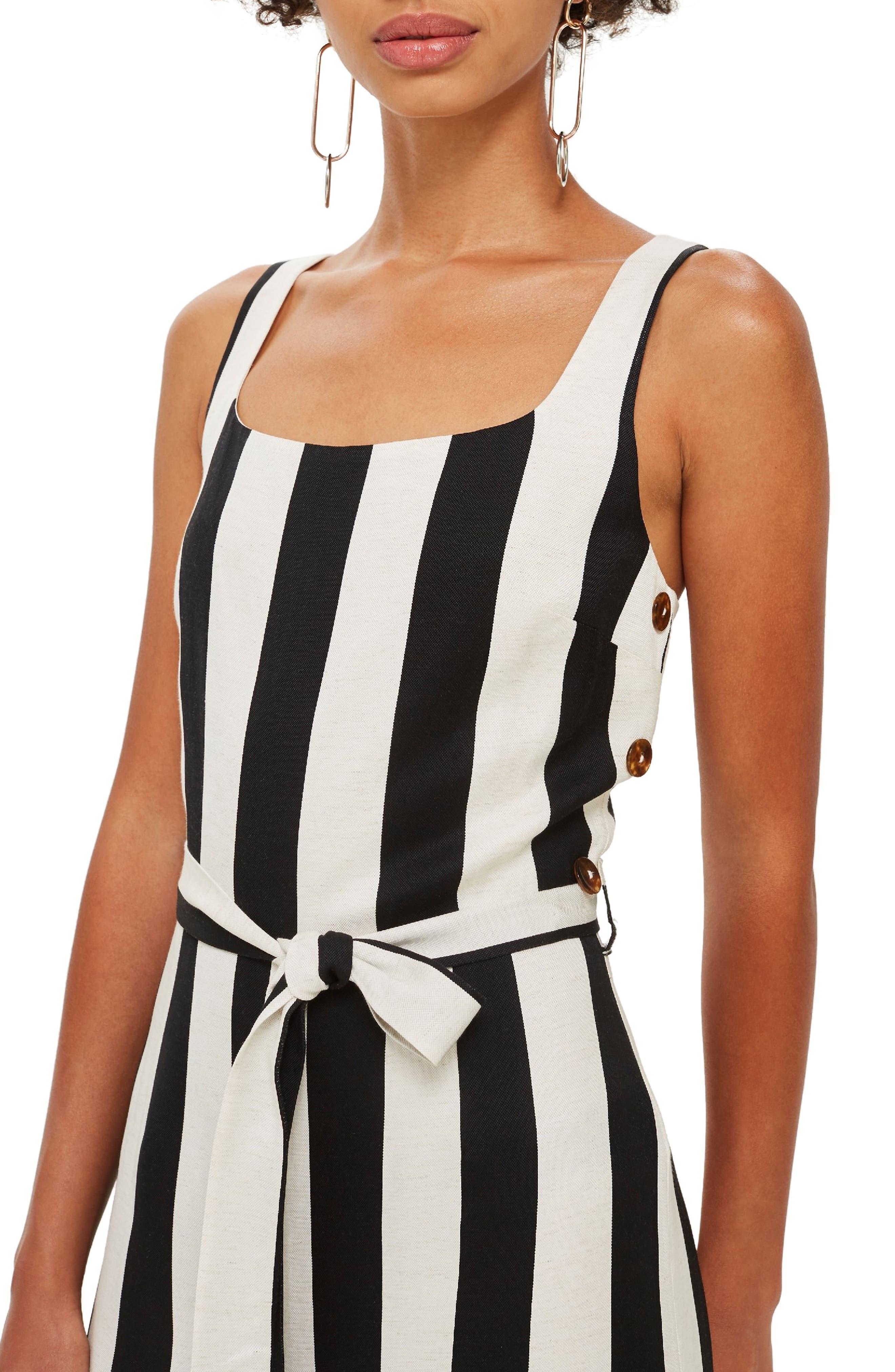 Humbug Striped Jumpsuit,                             Alternate thumbnail 4, color,                             BLACK MULTI