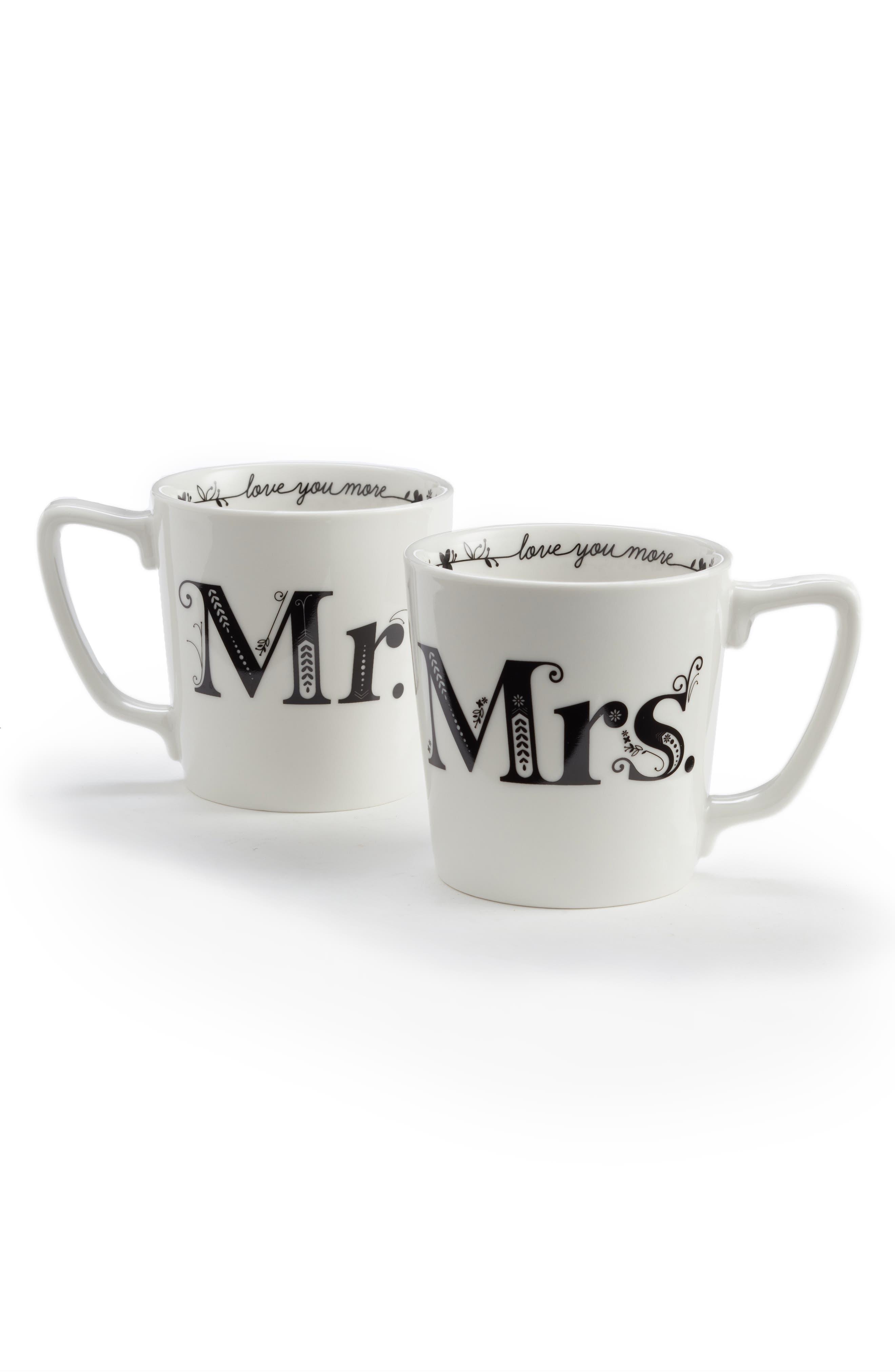 Mr. & Mrs. Set of 2 Mugs,                             Main thumbnail 1, color,                             100
