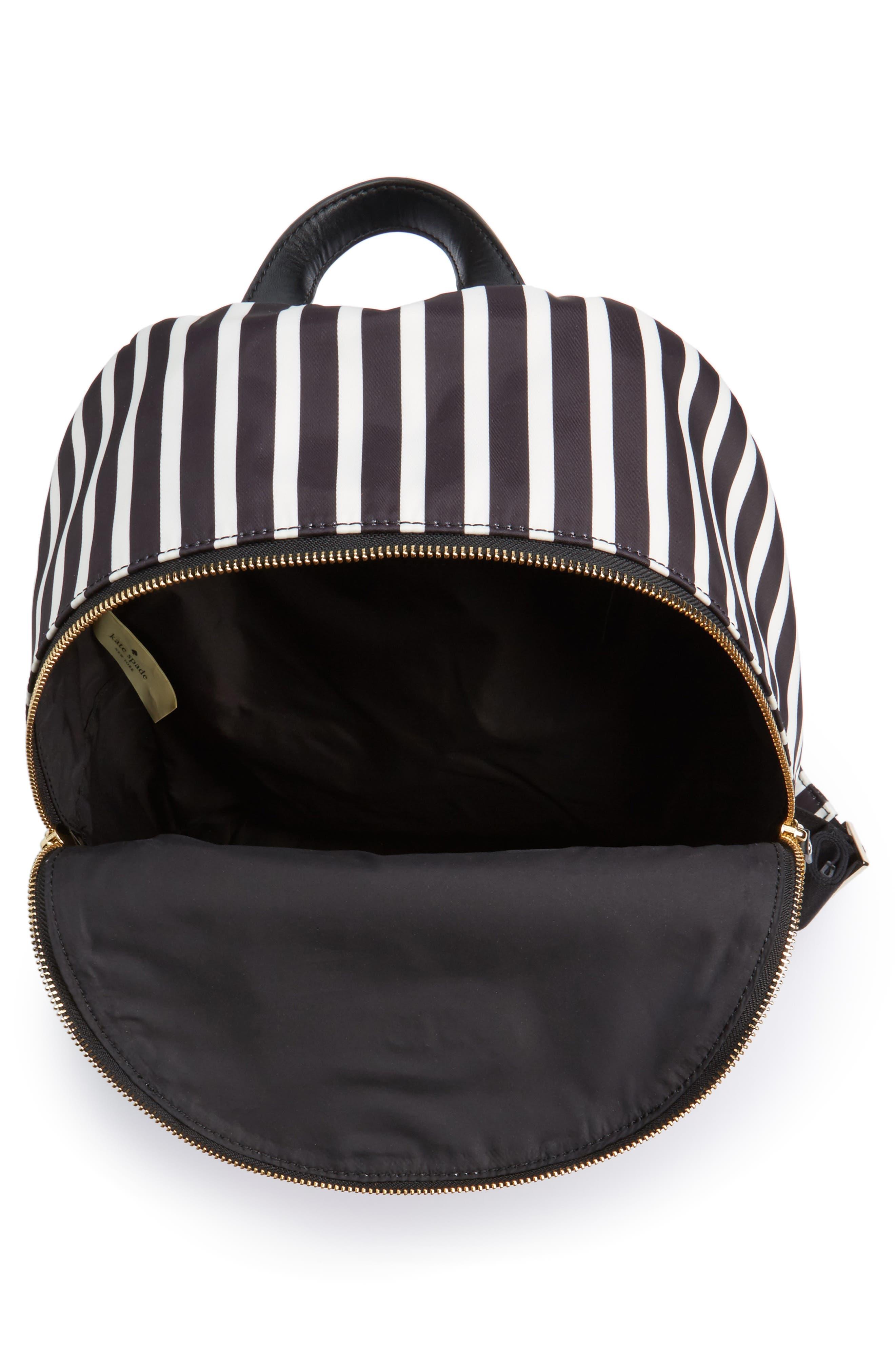 watson lane - hartley nylon backpack,                             Alternate thumbnail 4, color,                             BLACK/ CLOTTED CREAM