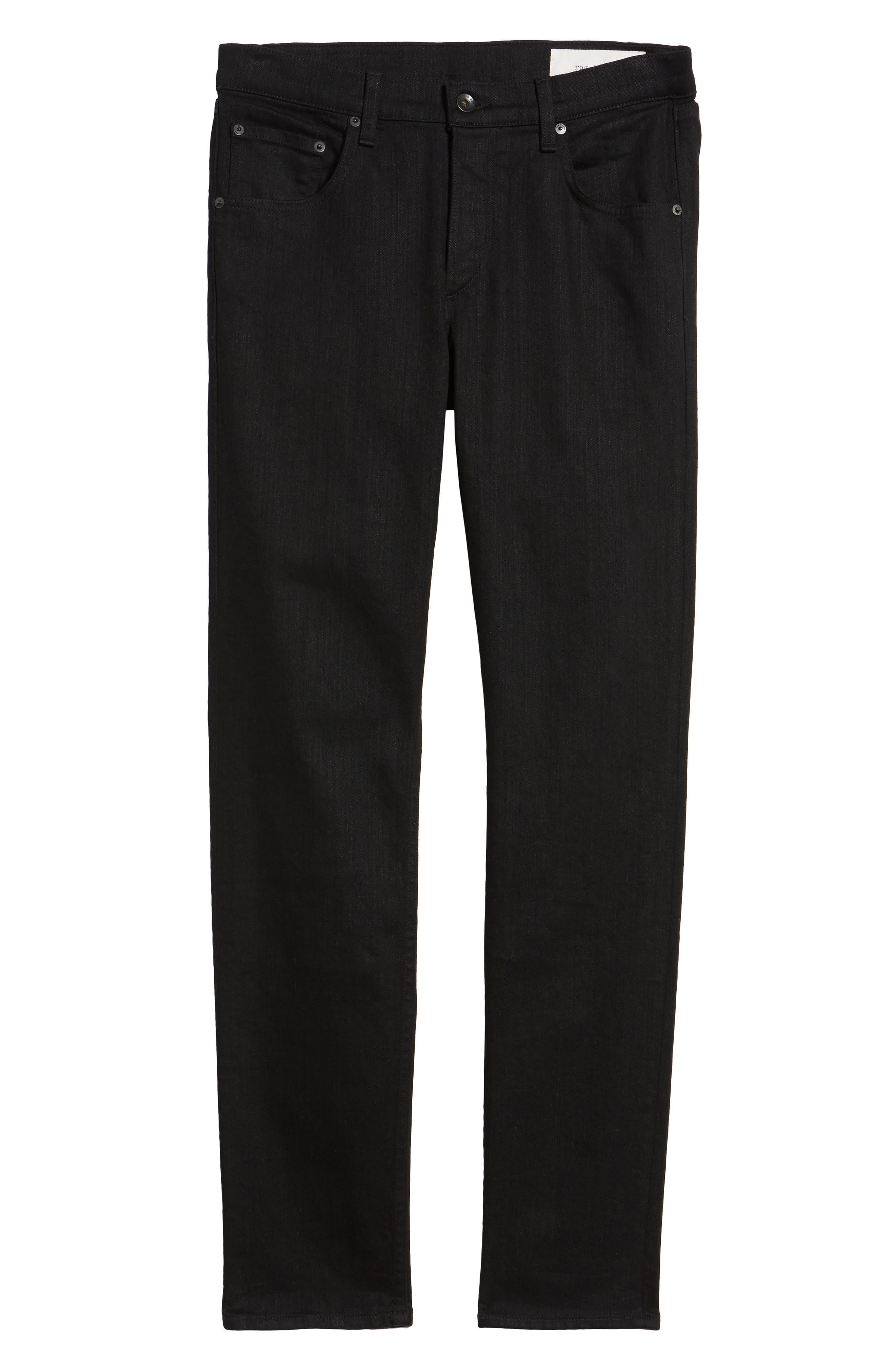 Fit 2 Slim Fit Jeans,                             Alternate thumbnail 6, color,                             BLACK