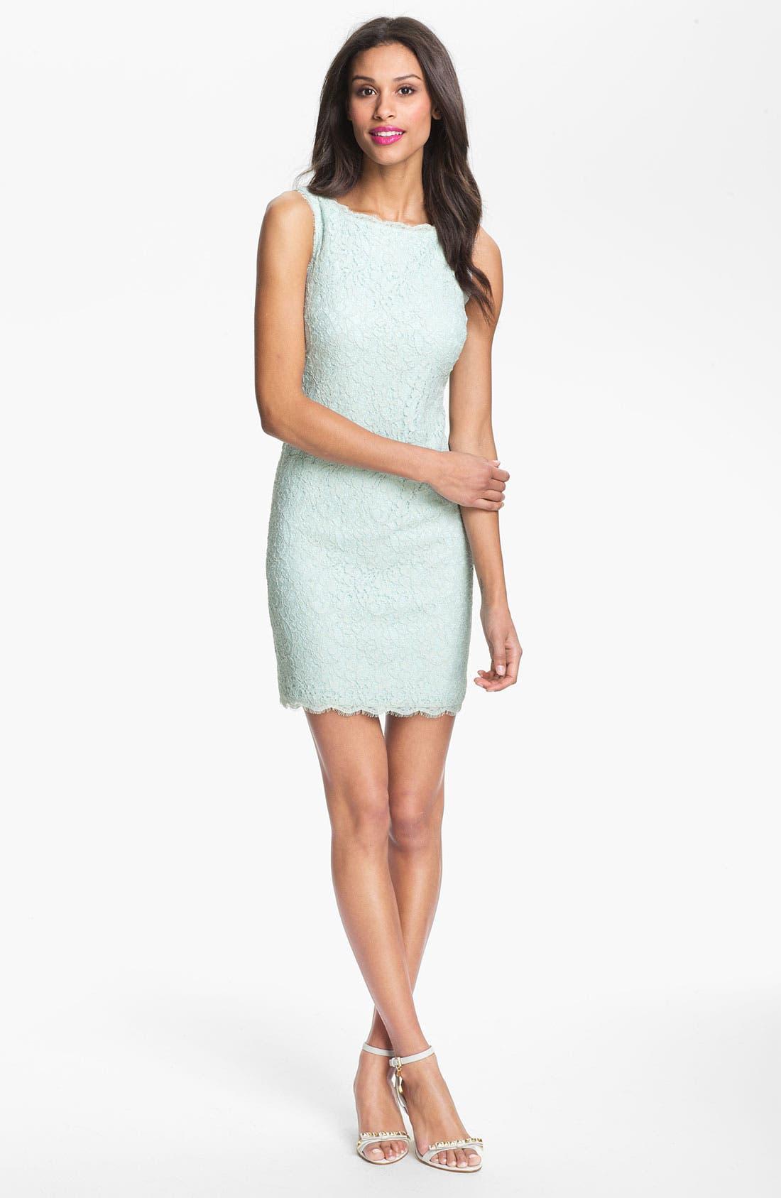Boatneck Lace Sheath Dress,                             Alternate thumbnail 43, color,