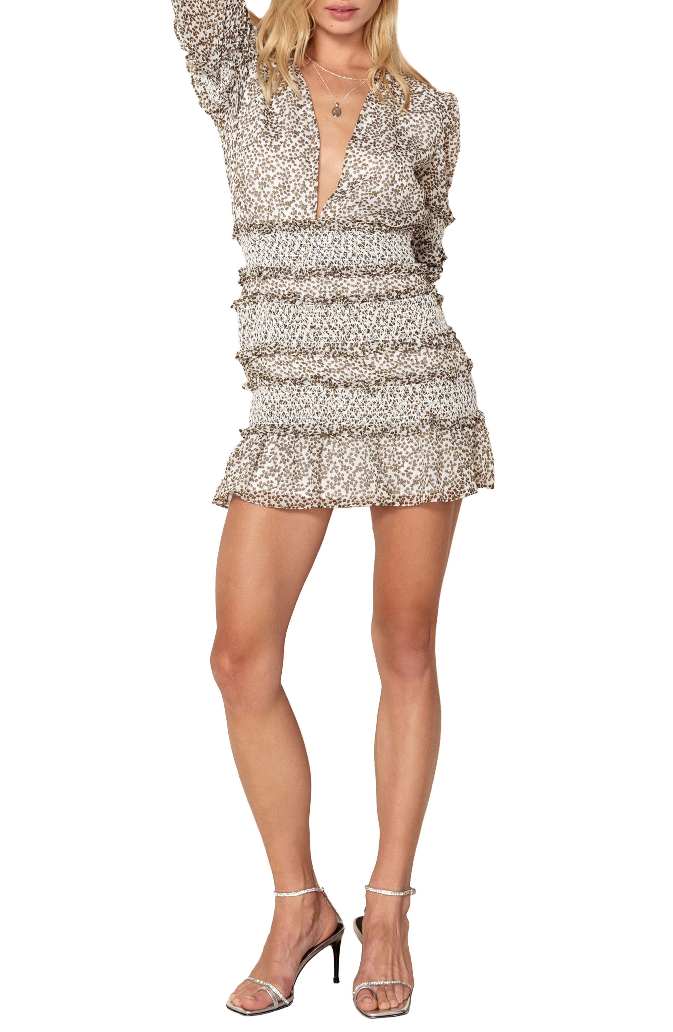 Behati Minidress,                         Main,                         color, WHITE CONSTELLATION