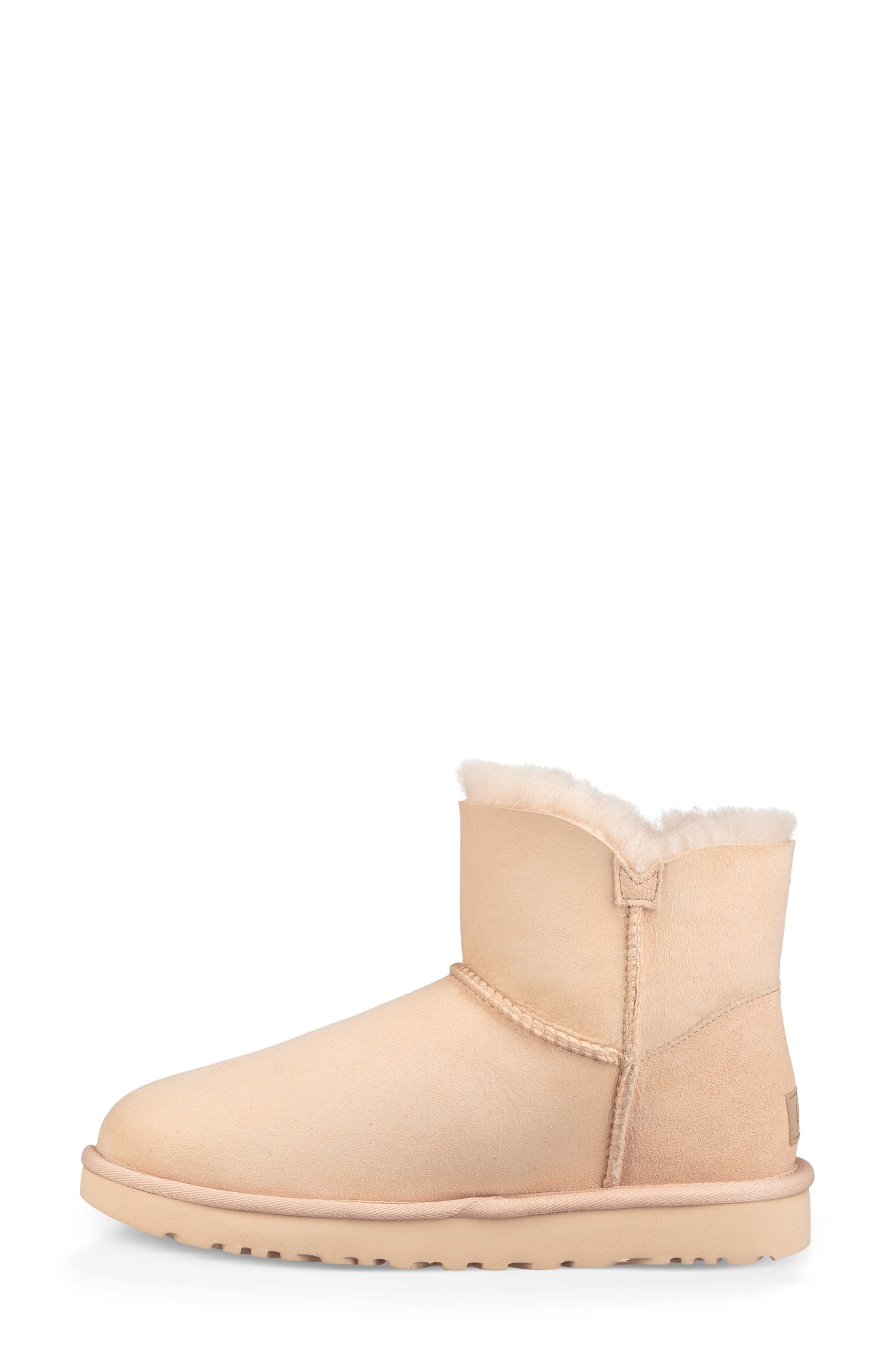'Mini Bailey Button II' Boot,                             Alternate thumbnail 6, color,                             AMBER LIGHT SUEDE