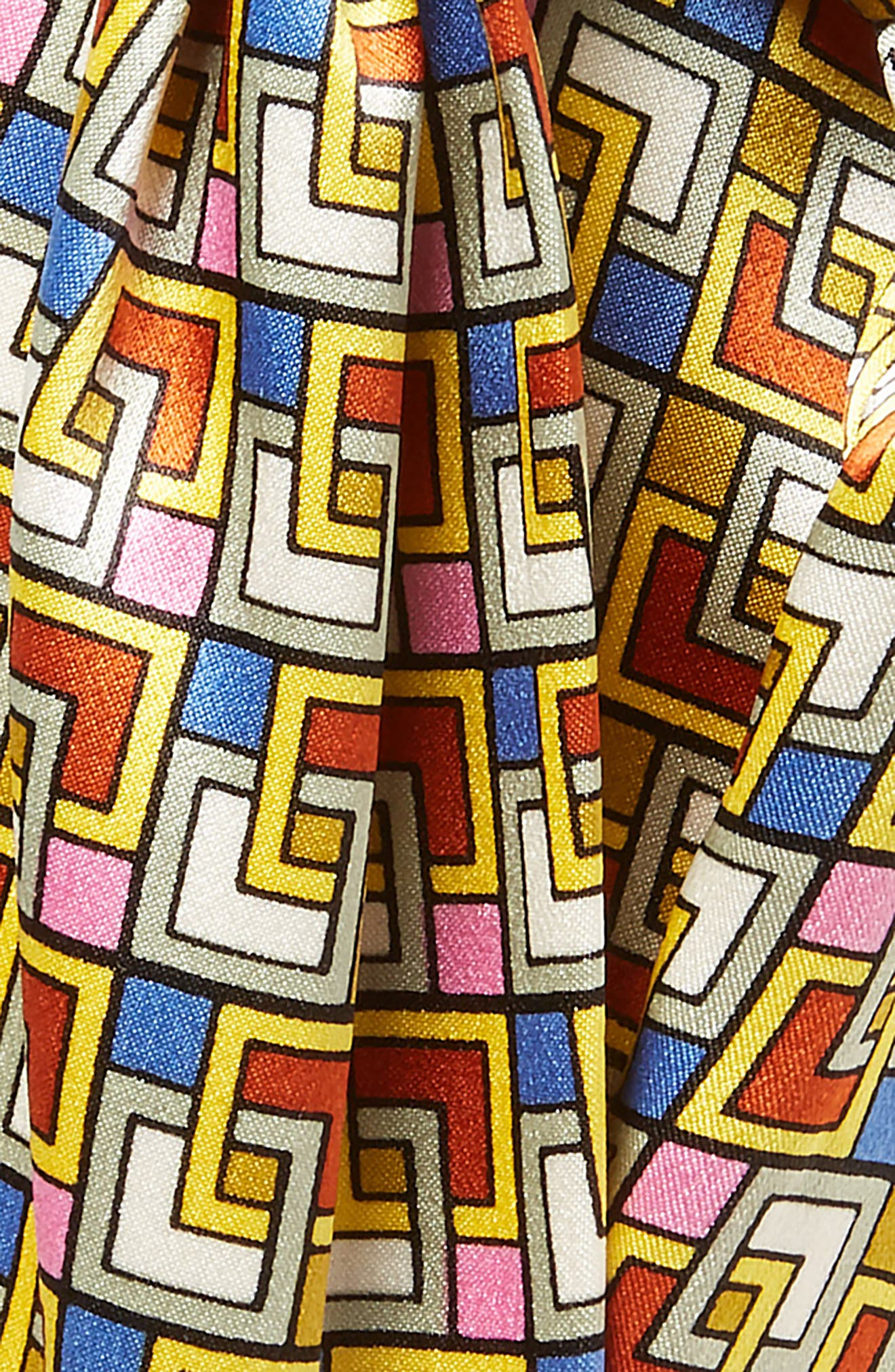 Picnic Box Silk Head Wrap,                             Alternate thumbnail 2, color,                             NAVY PICNIC BOX