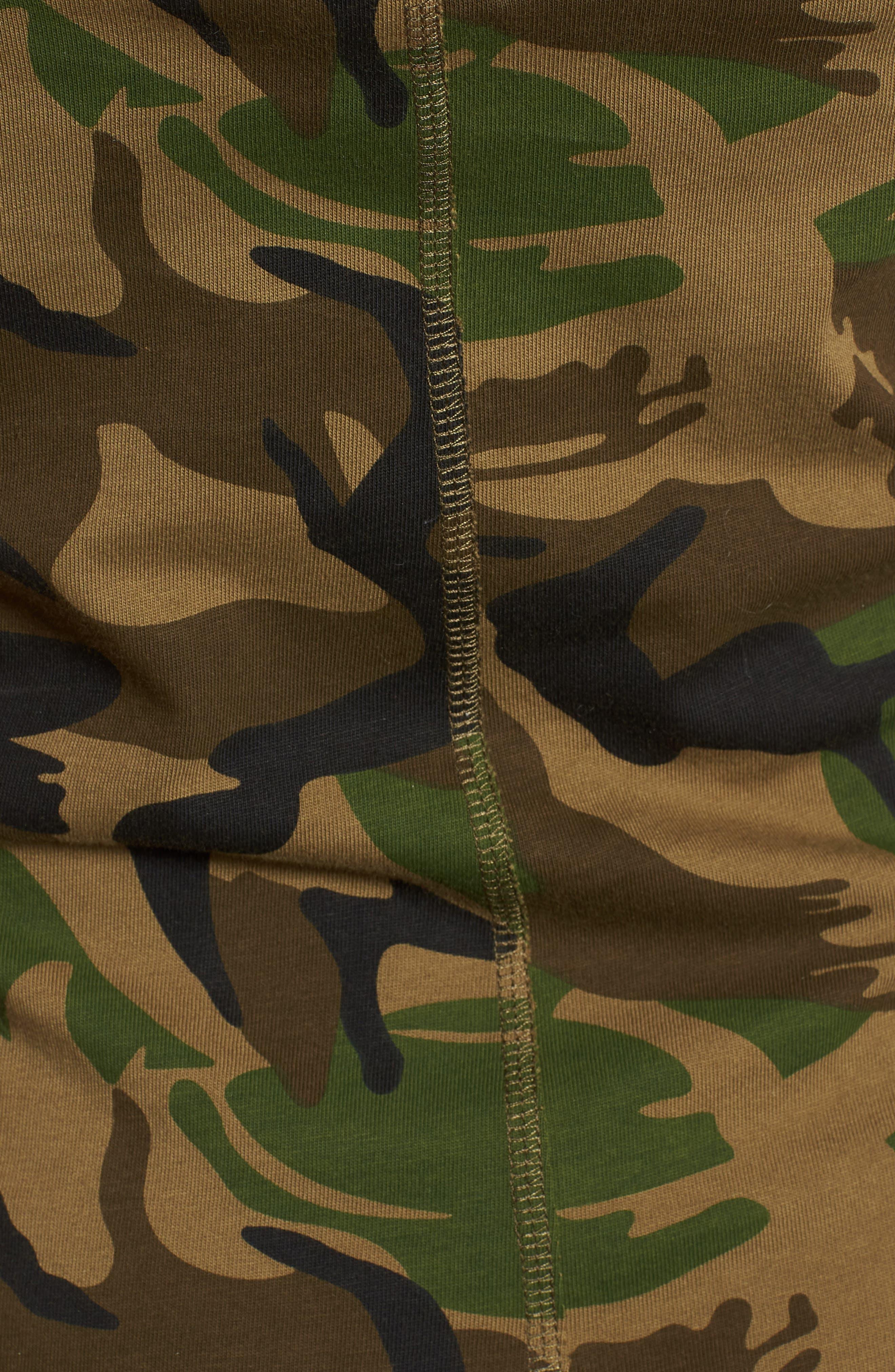 Camo Print Tank Dress,                             Alternate thumbnail 6, color,                             ARMY CAMO