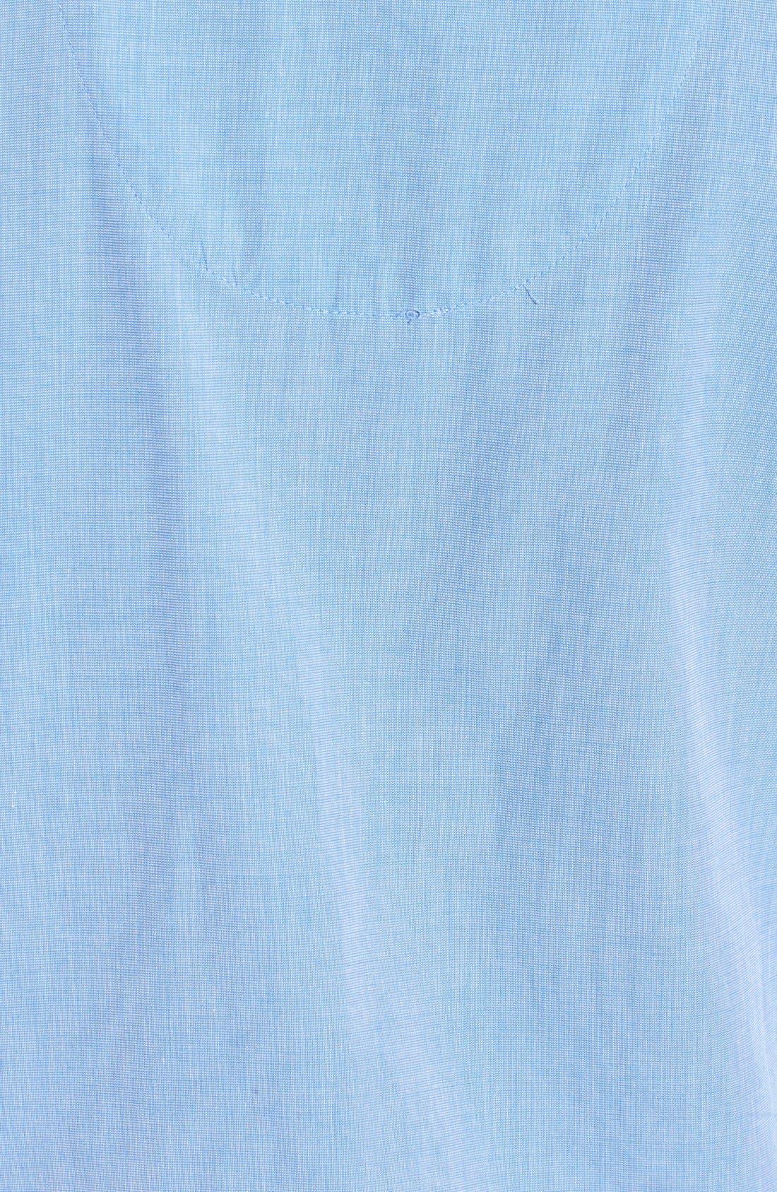 Cotton Pajamas,                             Alternate thumbnail 3, color,                             BLUE