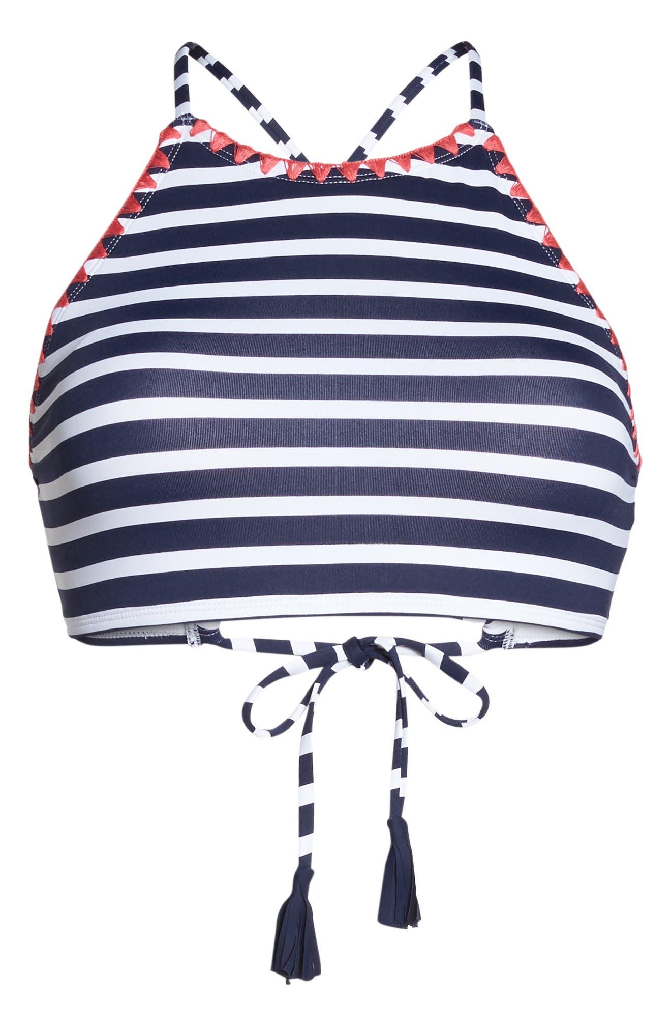 TOMMY BAHAMA,                             Breton Stripe Bikini Top,                             Alternate thumbnail 6, color,                             400