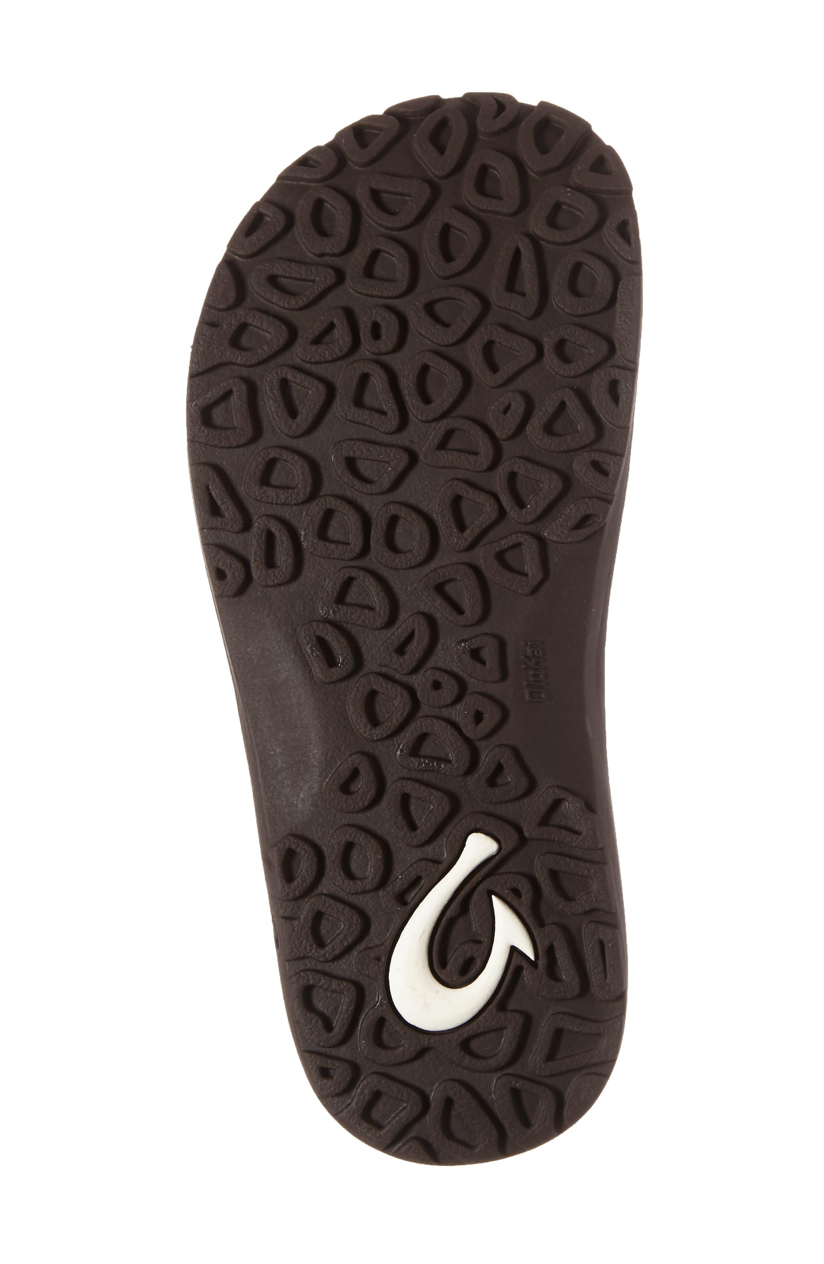 Nui Leather Flip Flop,                             Alternate thumbnail 4, color,                             CLAY/ DARK JAVA