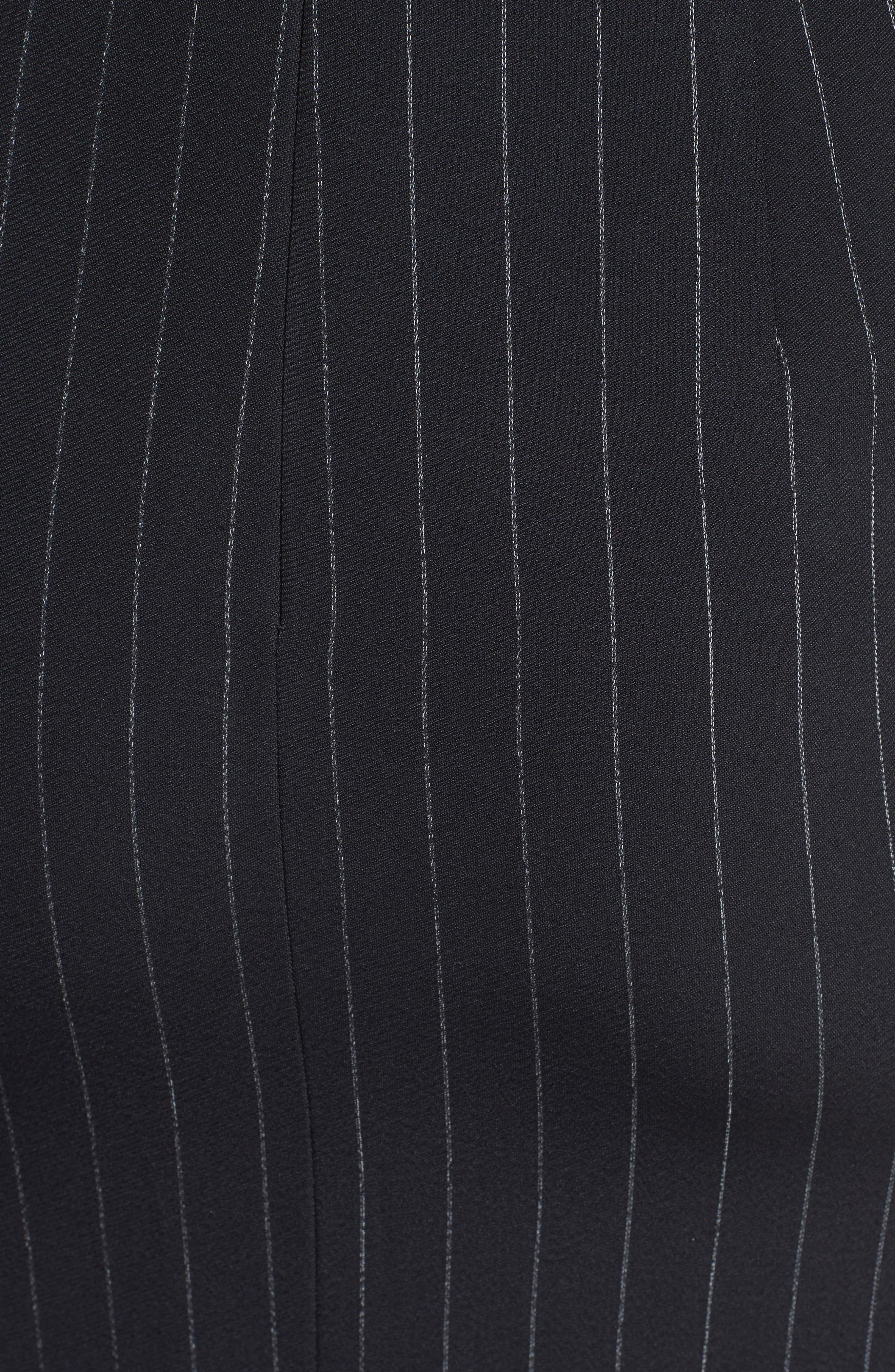 Pinstripe Stretch Dress,                             Alternate thumbnail 5, color,                             001
