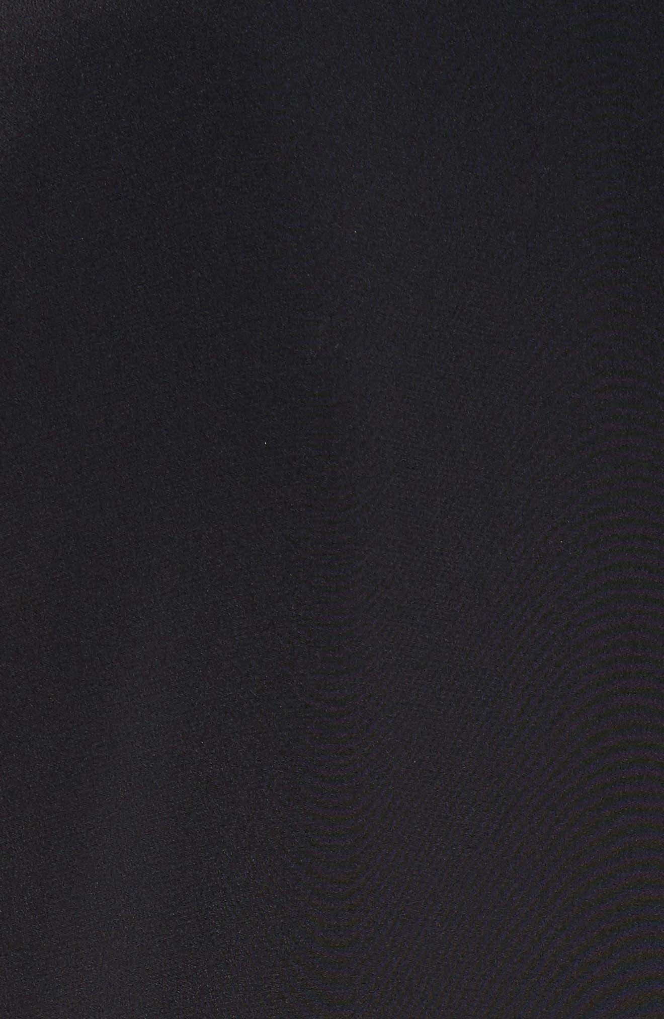 Drape Silk Dress,                             Alternate thumbnail 5, color,                             001