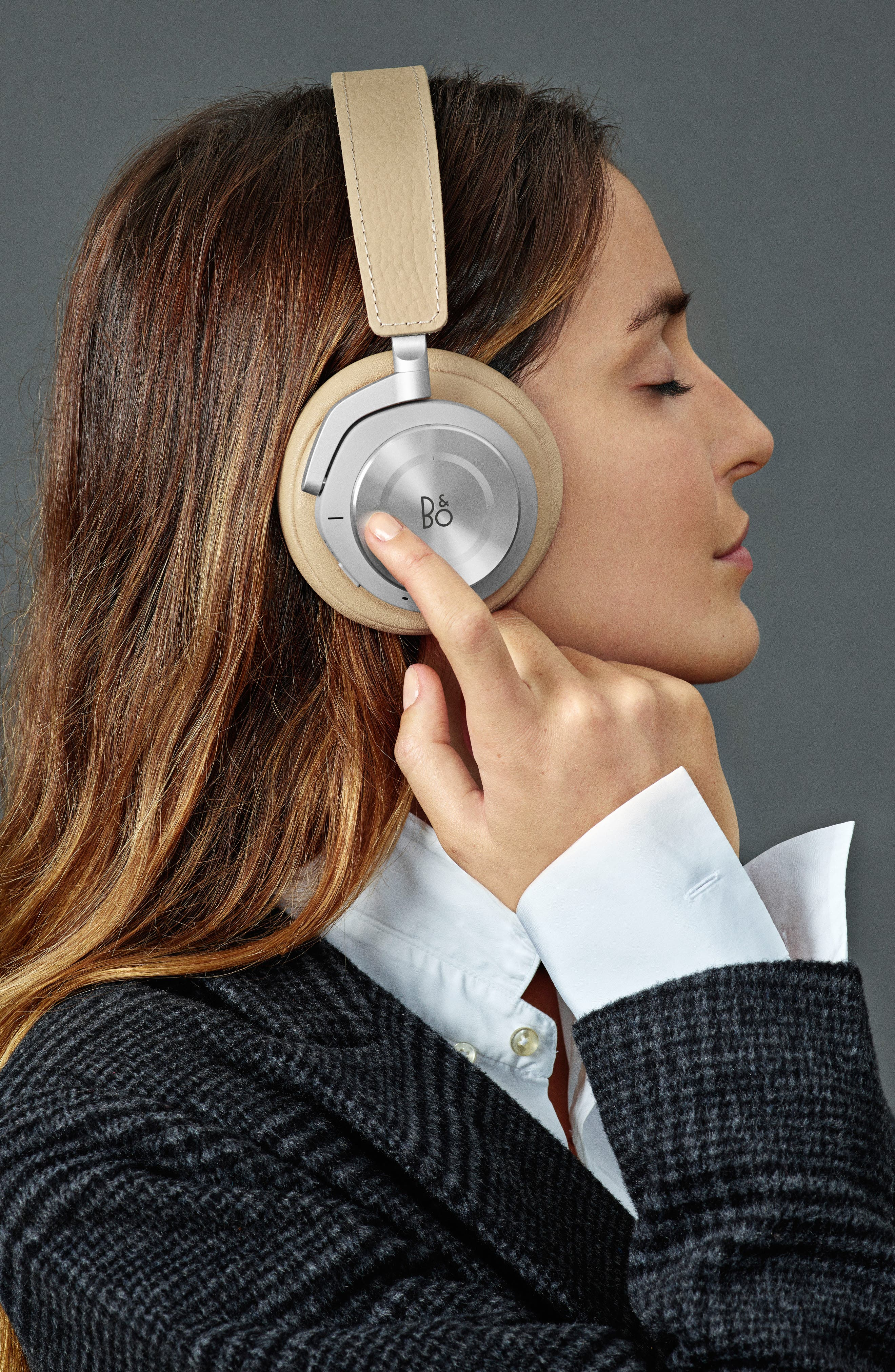 Beoplay H9I Noise Canceling Bluetooth<sup>®</sup> Headphones,                             Alternate thumbnail 7, color,                             NATURAL