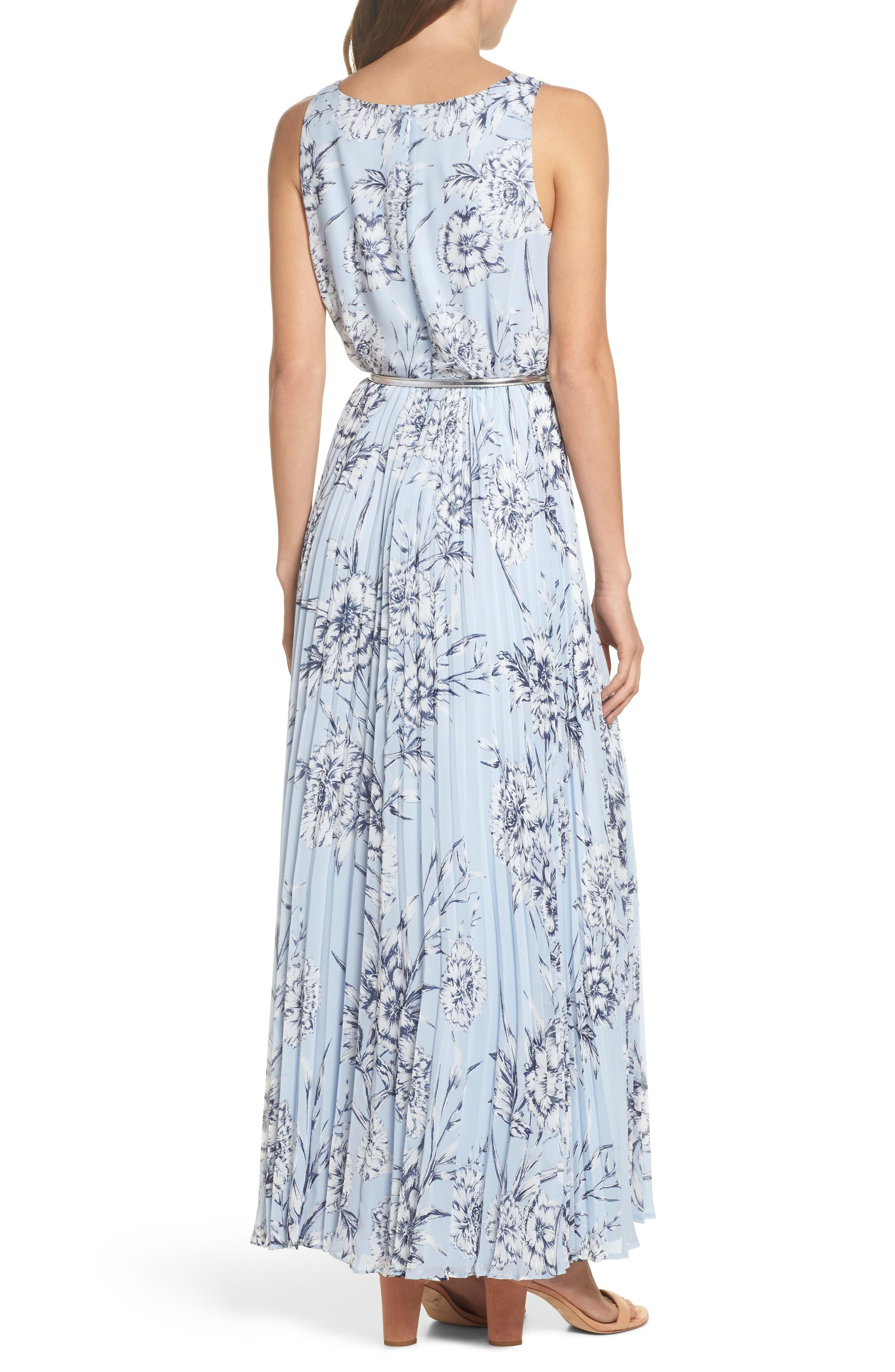 Pleated Maxi Dress,                             Alternate thumbnail 2, color,                             421