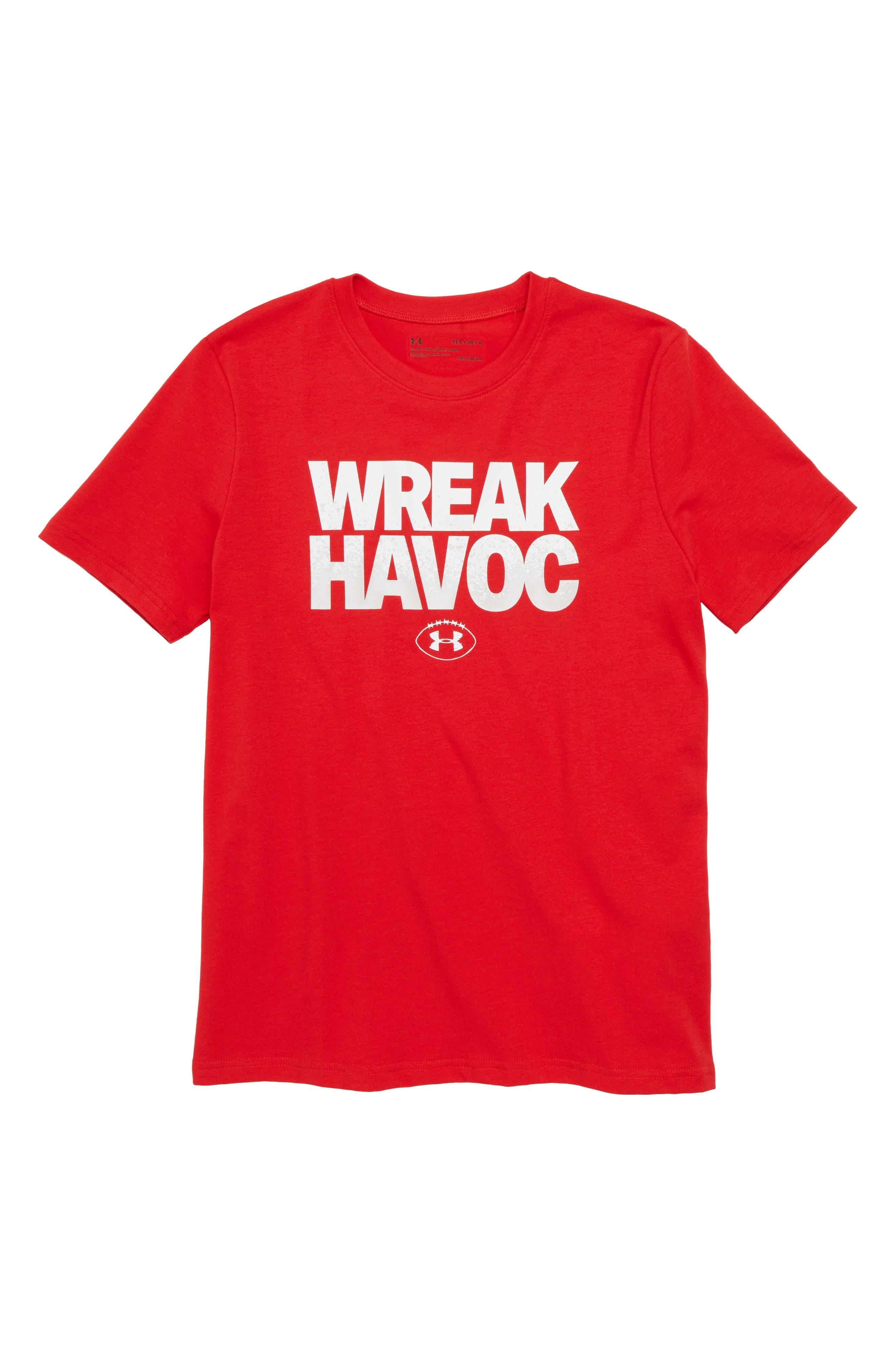 Wreak Havoc Graphic T-Shirt,                             Main thumbnail 1, color,                             600