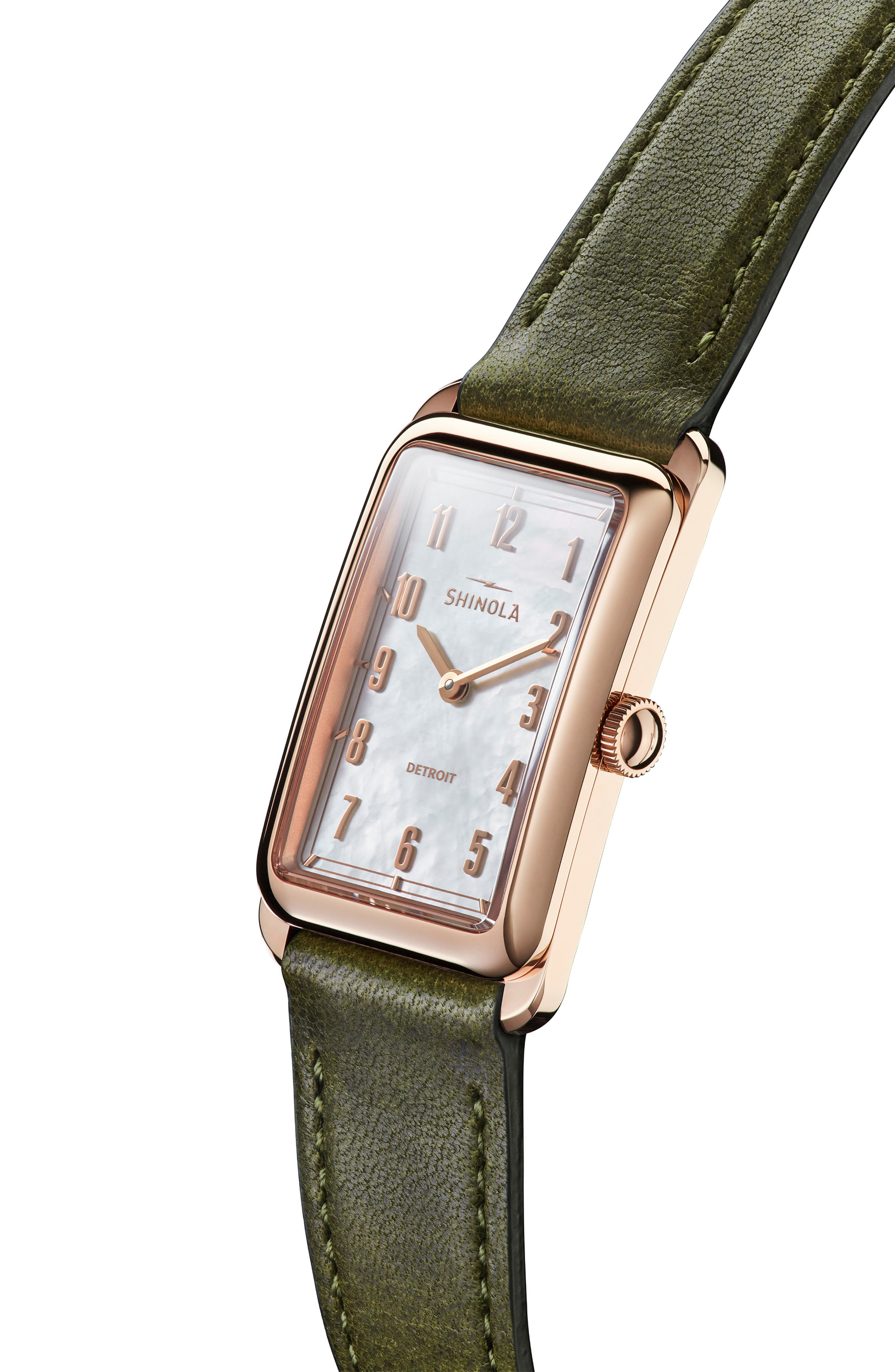 The Muldowney Rectangular Leather Strap Watch, 24mm x 32mm,                             Alternate thumbnail 19, color,