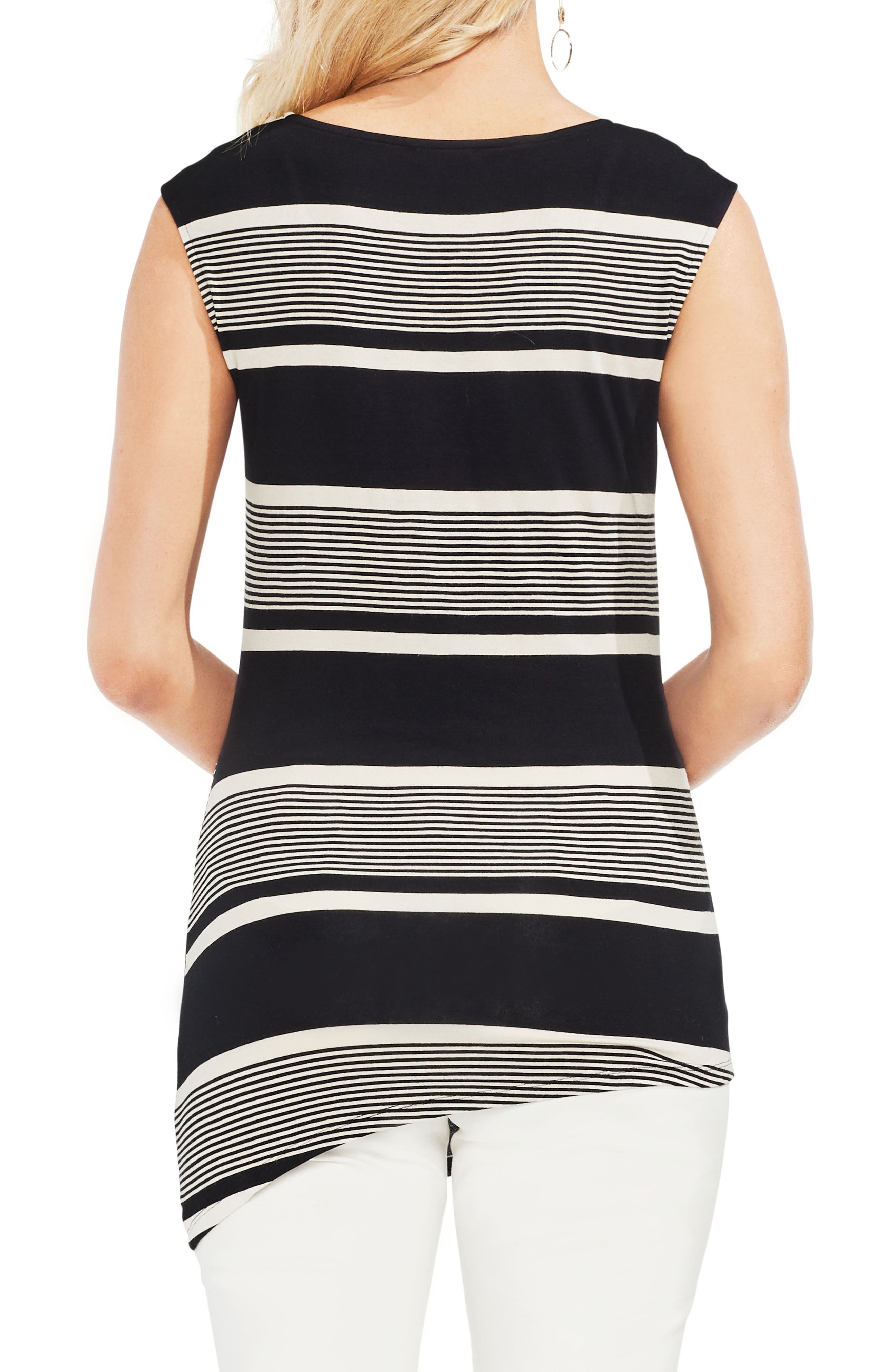 Ruched Stripe Tank Top,                             Alternate thumbnail 2, color,