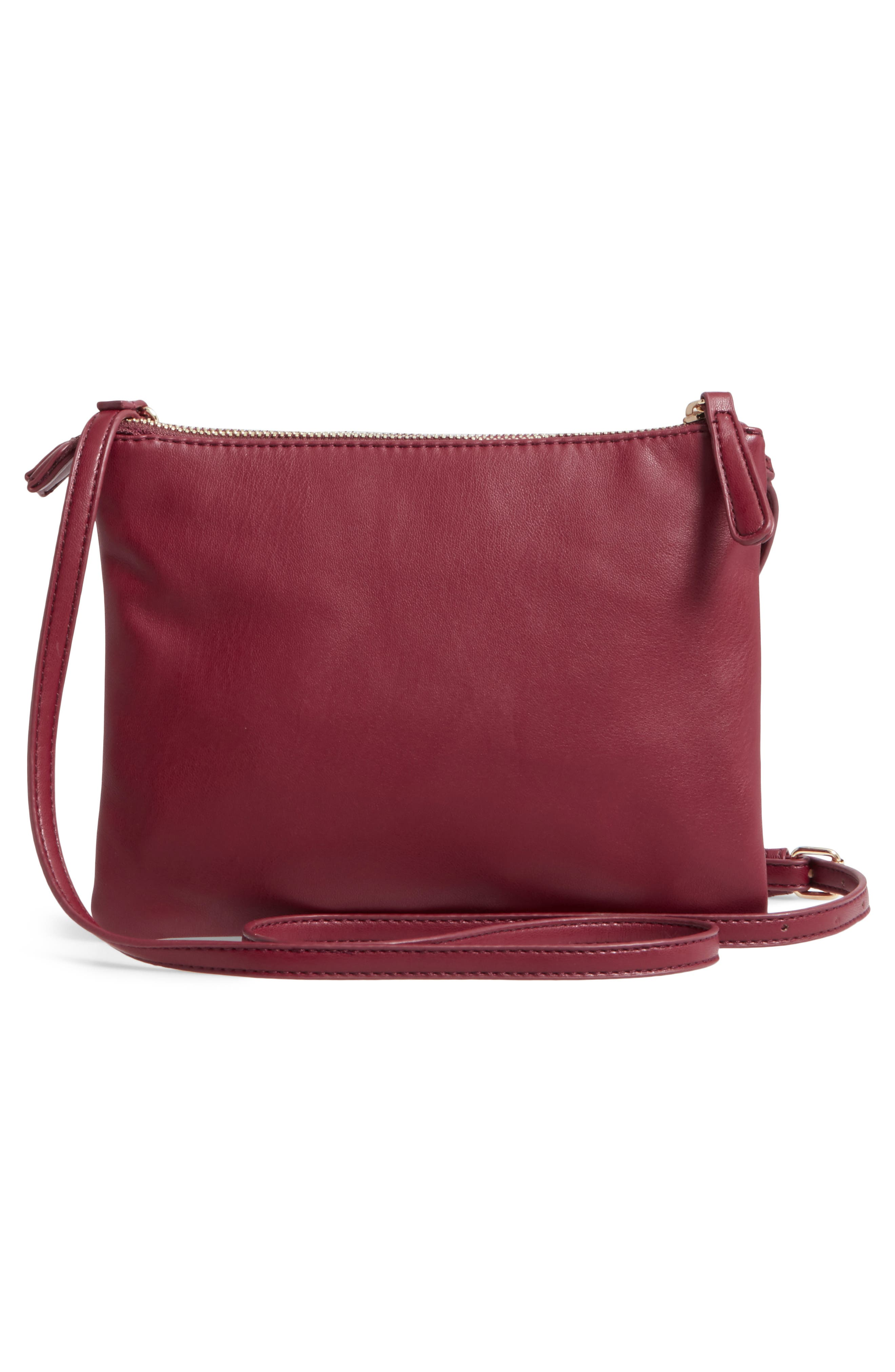 Madden Faux Leather Pouch Crossbody Bag,                             Alternate thumbnail 9, color,