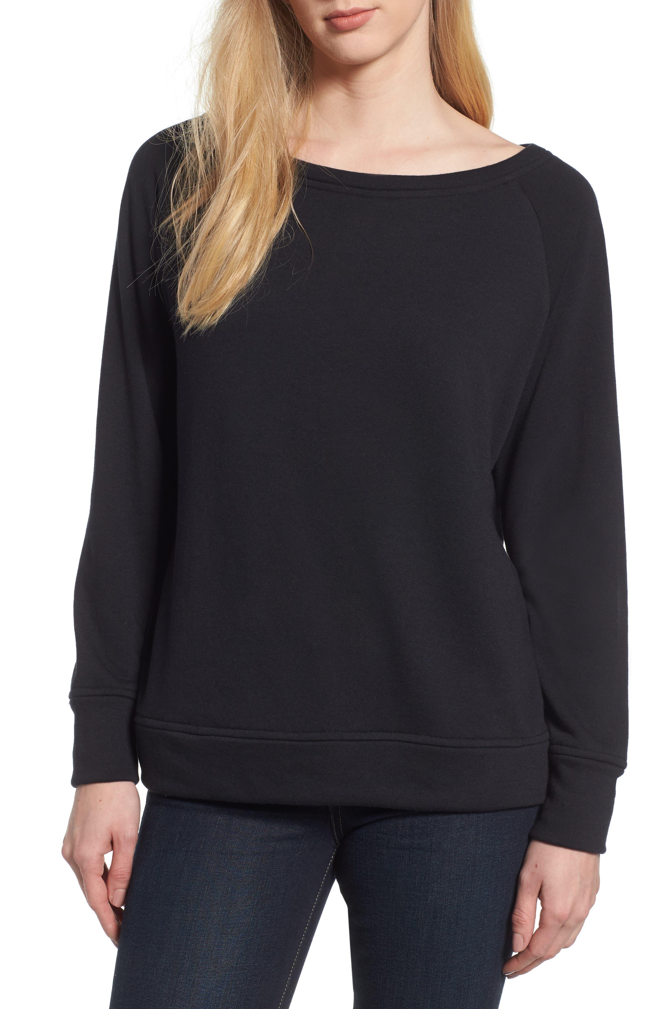 Slouch Sweatshirt,                             Main thumbnail 1, color,                             BLACK