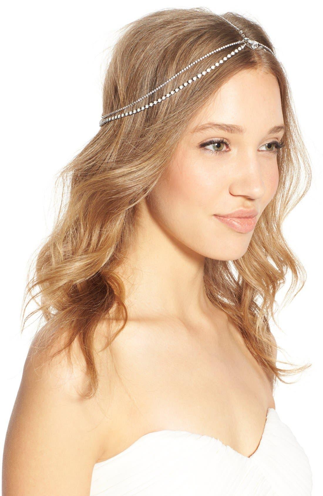 'Lindsay' Embellished Hair Chain,                             Alternate thumbnail 5, color,