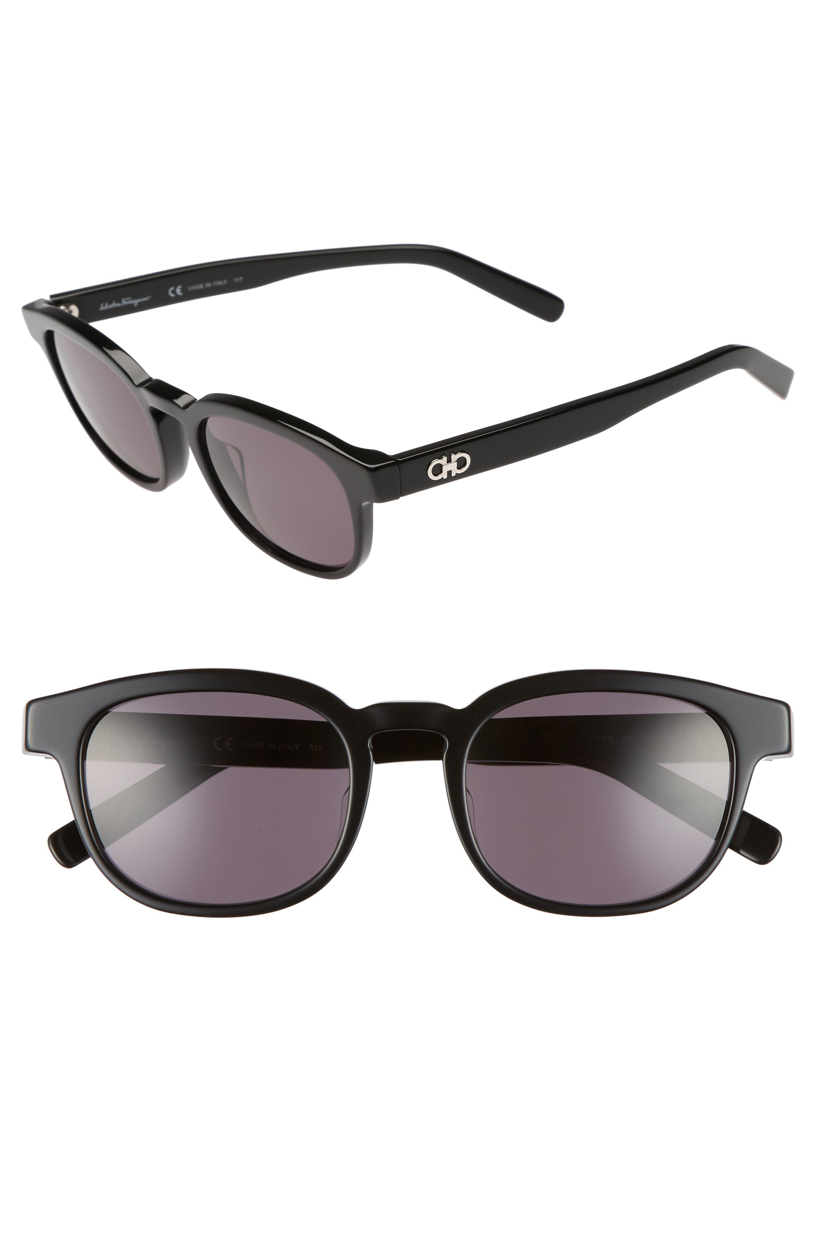 866S 50mm Sunglasses,                         Main,                         color, BLACK