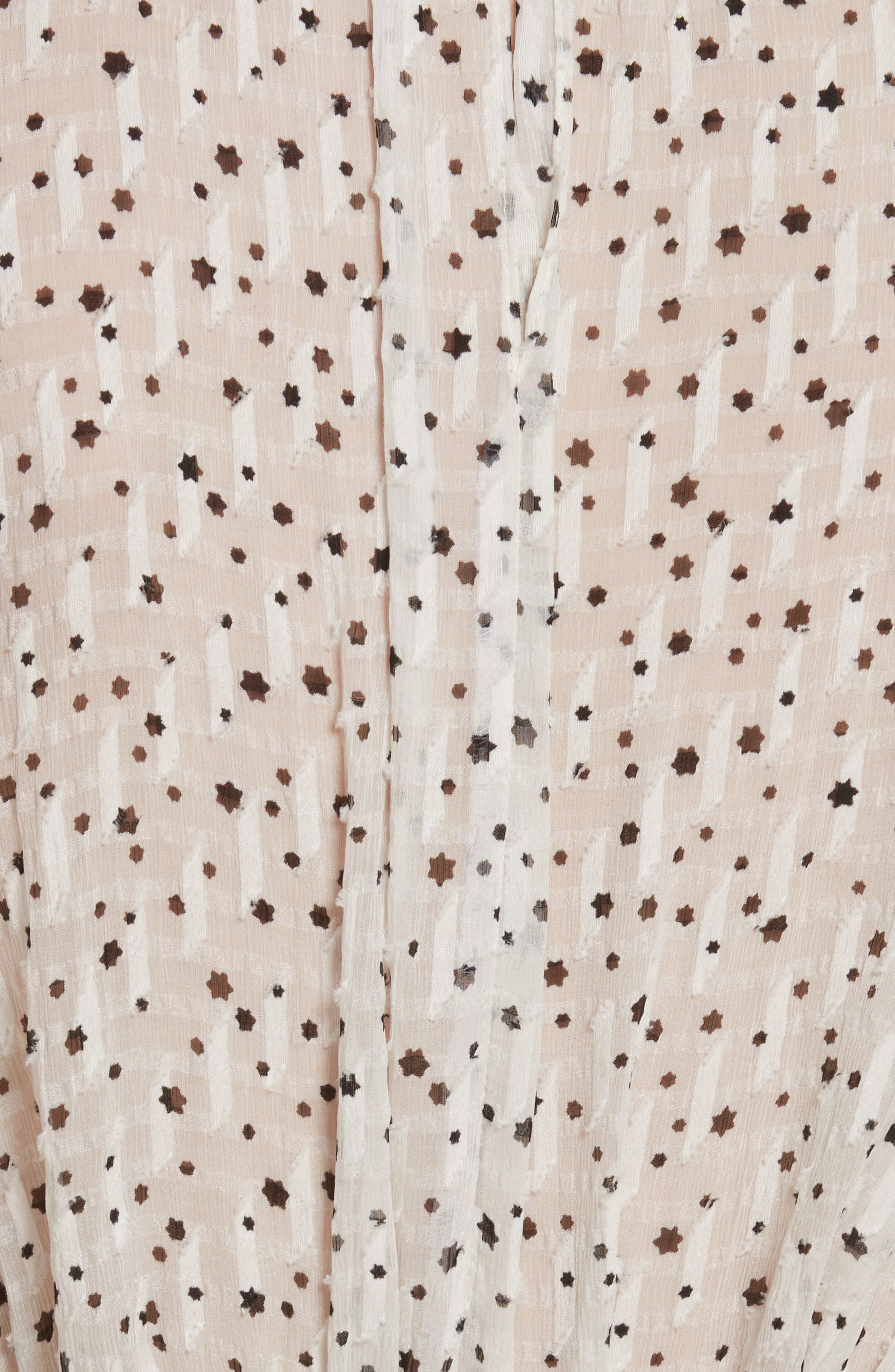Star Tie Silk Blend Blouse,                             Alternate thumbnail 5, color,                             103