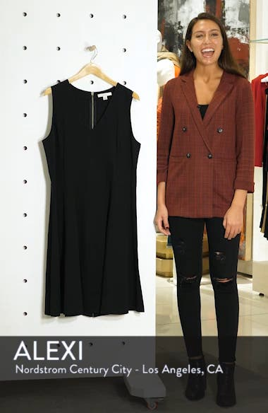 V-Neck Ponte Fit & Flare Dress, sales video thumbnail