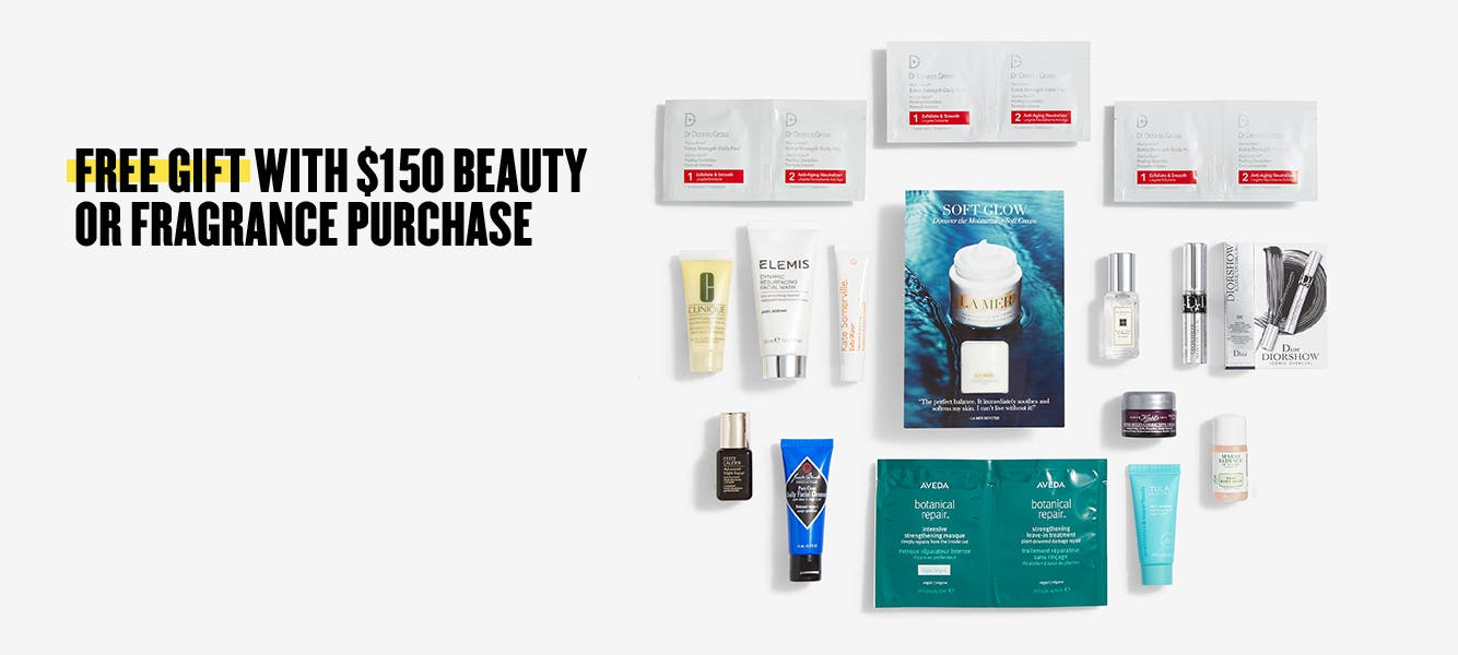 Beauty gift with purchase.