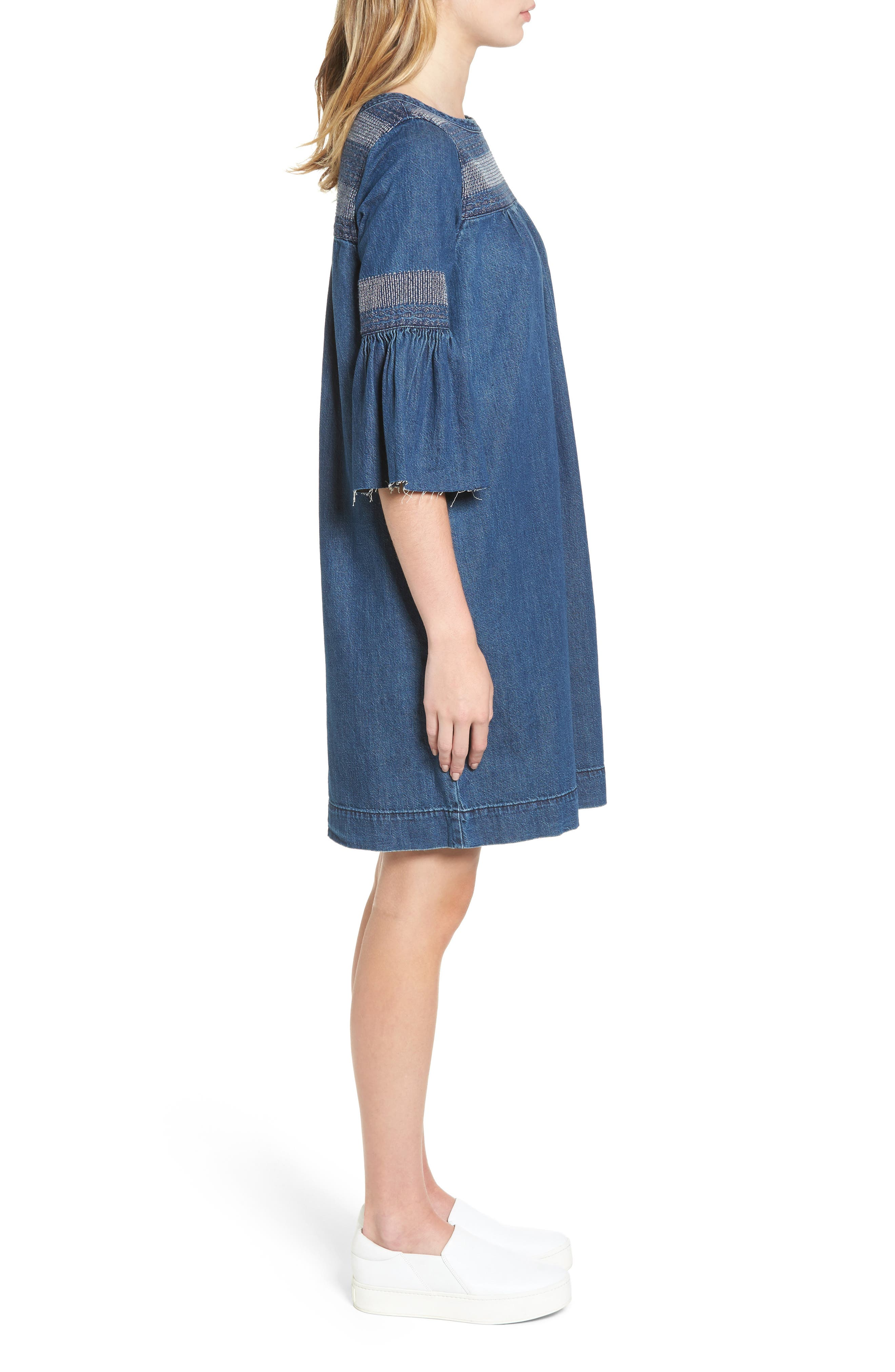 The Abigail Embroidered Dress,                             Alternate thumbnail 3, color,