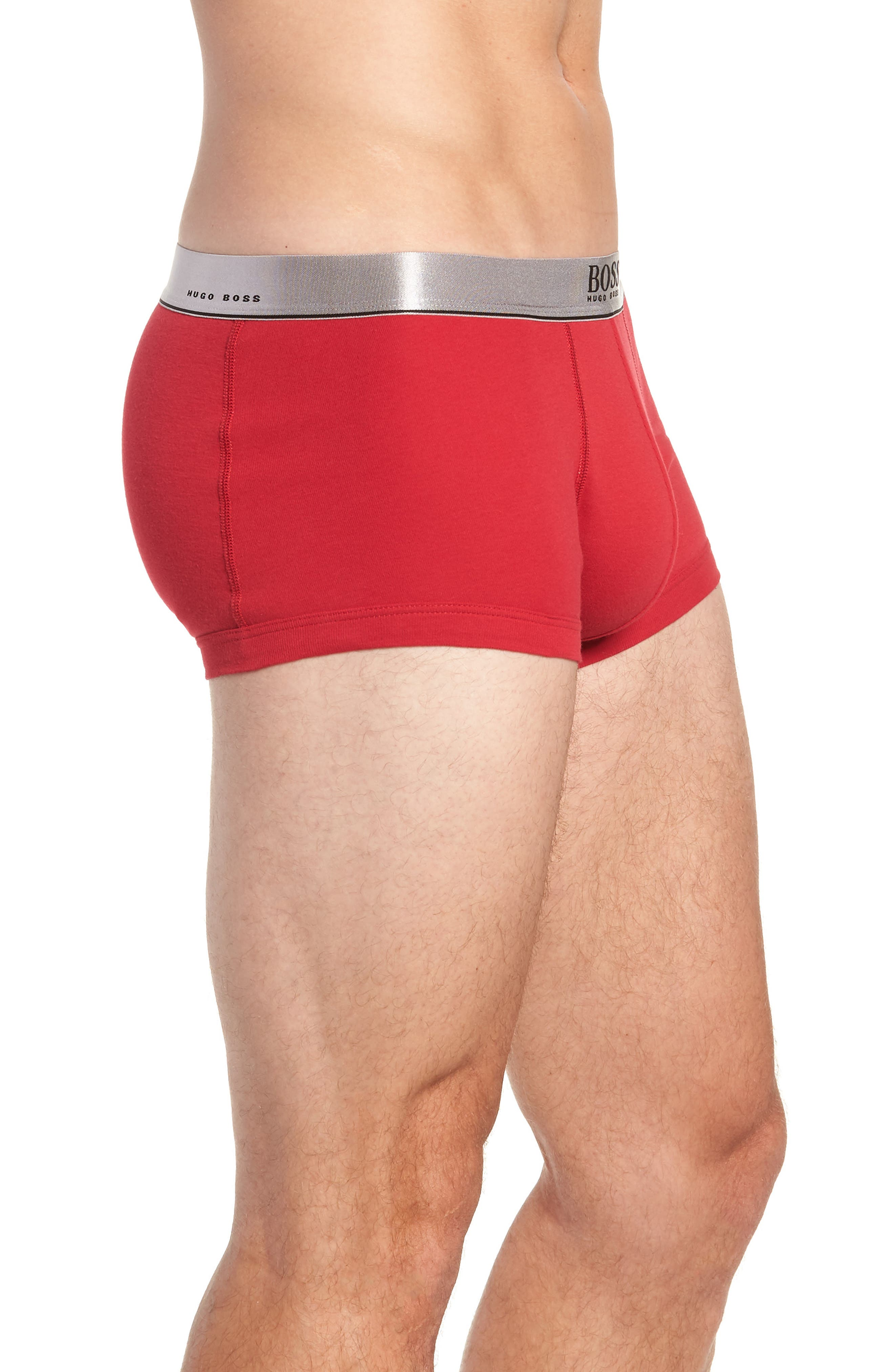 2-Pack Cotton Trunks,                             Alternate thumbnail 4, color,                             RED