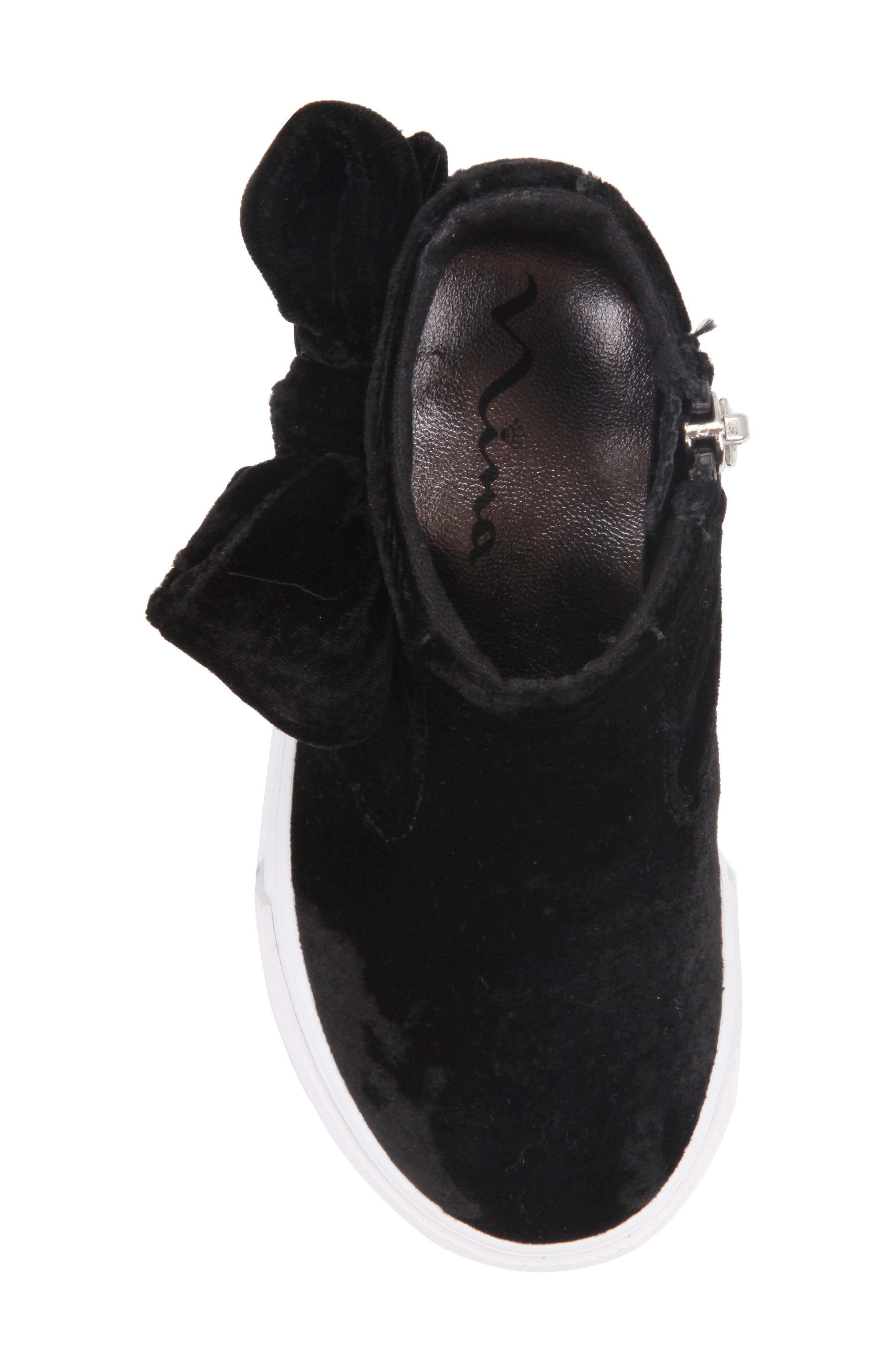 Harolyn Bow Bootie Sneaker,                             Alternate thumbnail 5, color,                             005