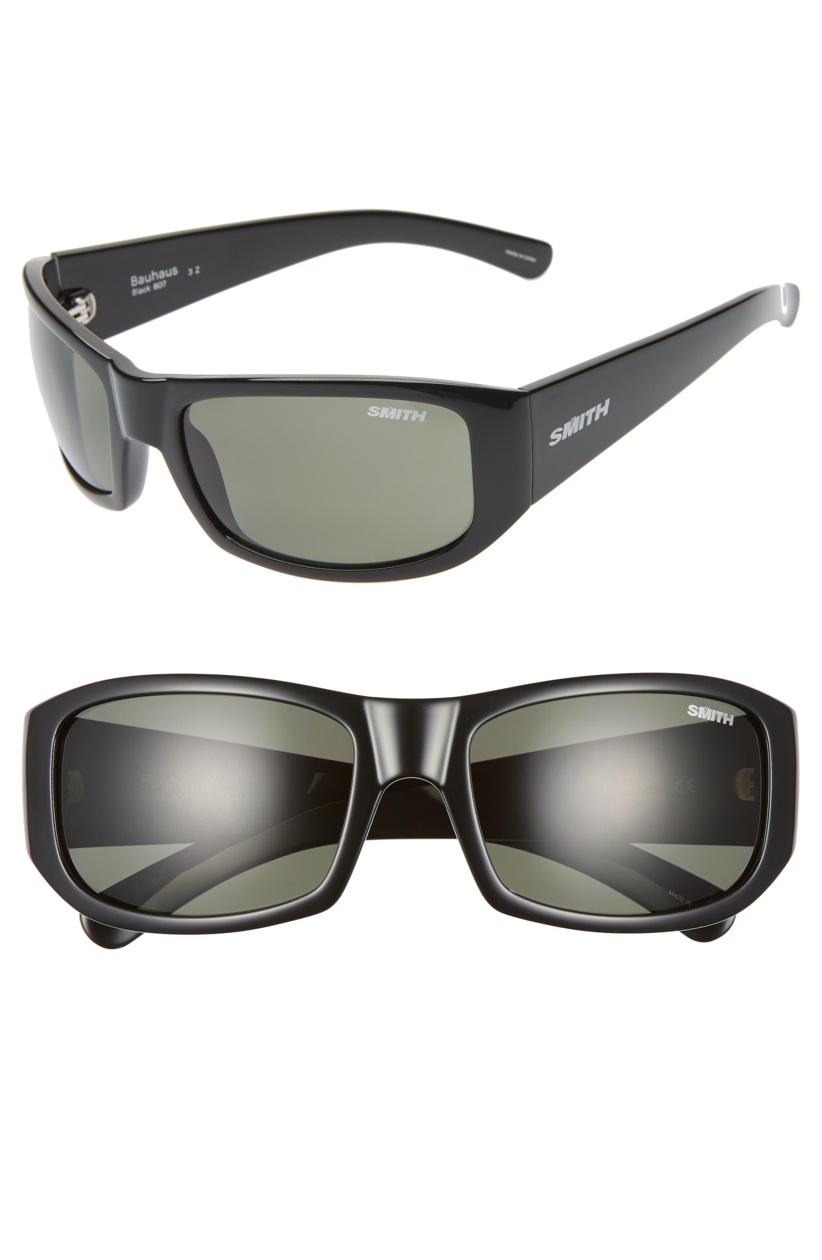 d0b7684de27 Smith Bauhaus 5m Chromapop(TM) Polarized Wraparound Sunglasses - Black
