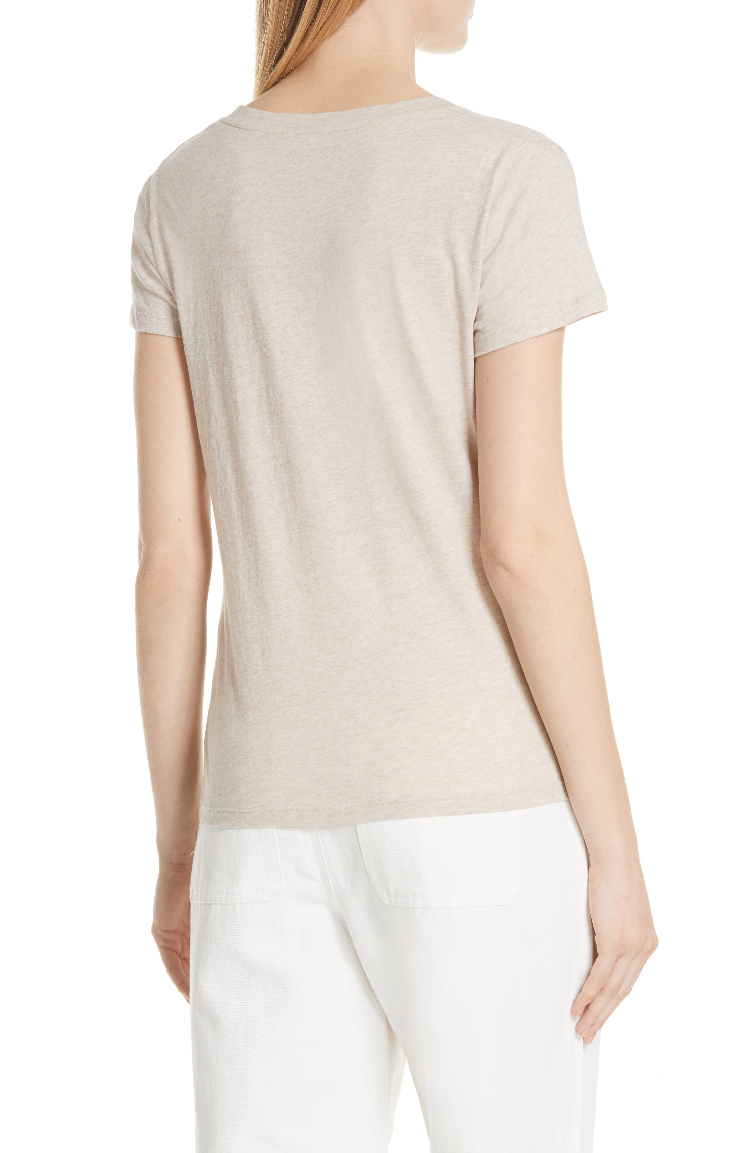 Essential Pima Cotton V-Neck Tee,                             Alternate thumbnail 2, color,                             259